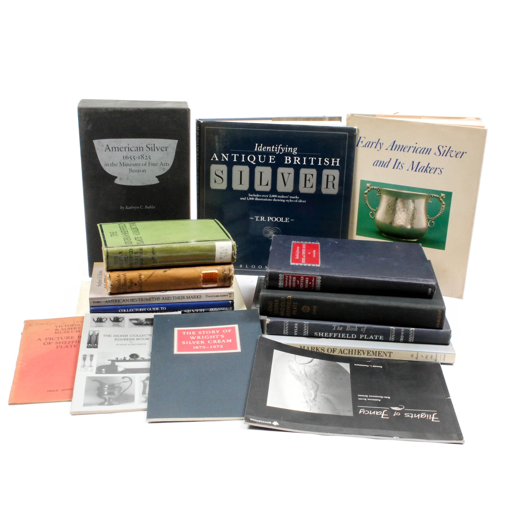 Vintage American and European Silver Reference Books
