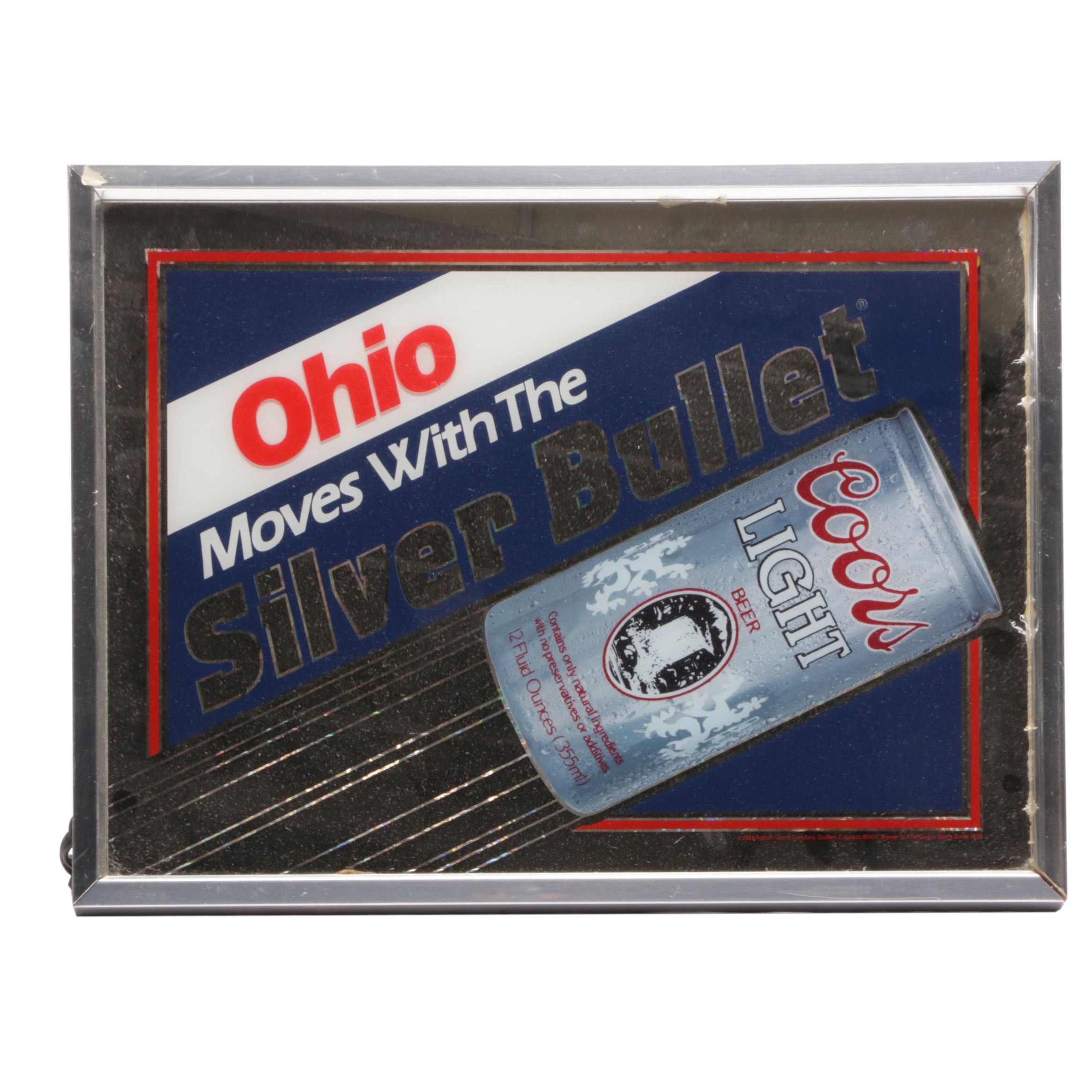 """Coors Light """"Silver Bullet"""" Electric Beer Sign"""