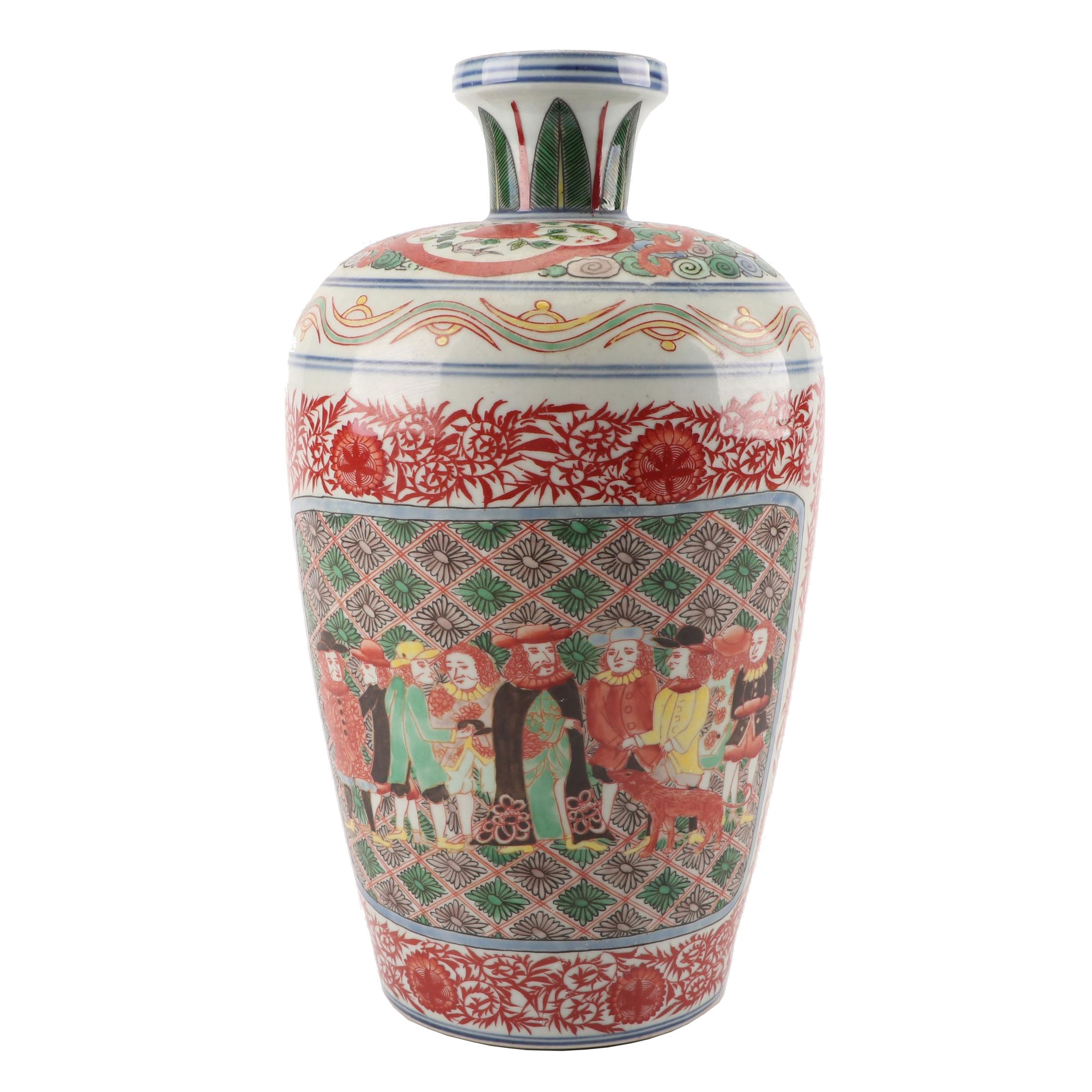 Chinese Hand-Painted Porcelain Vase
