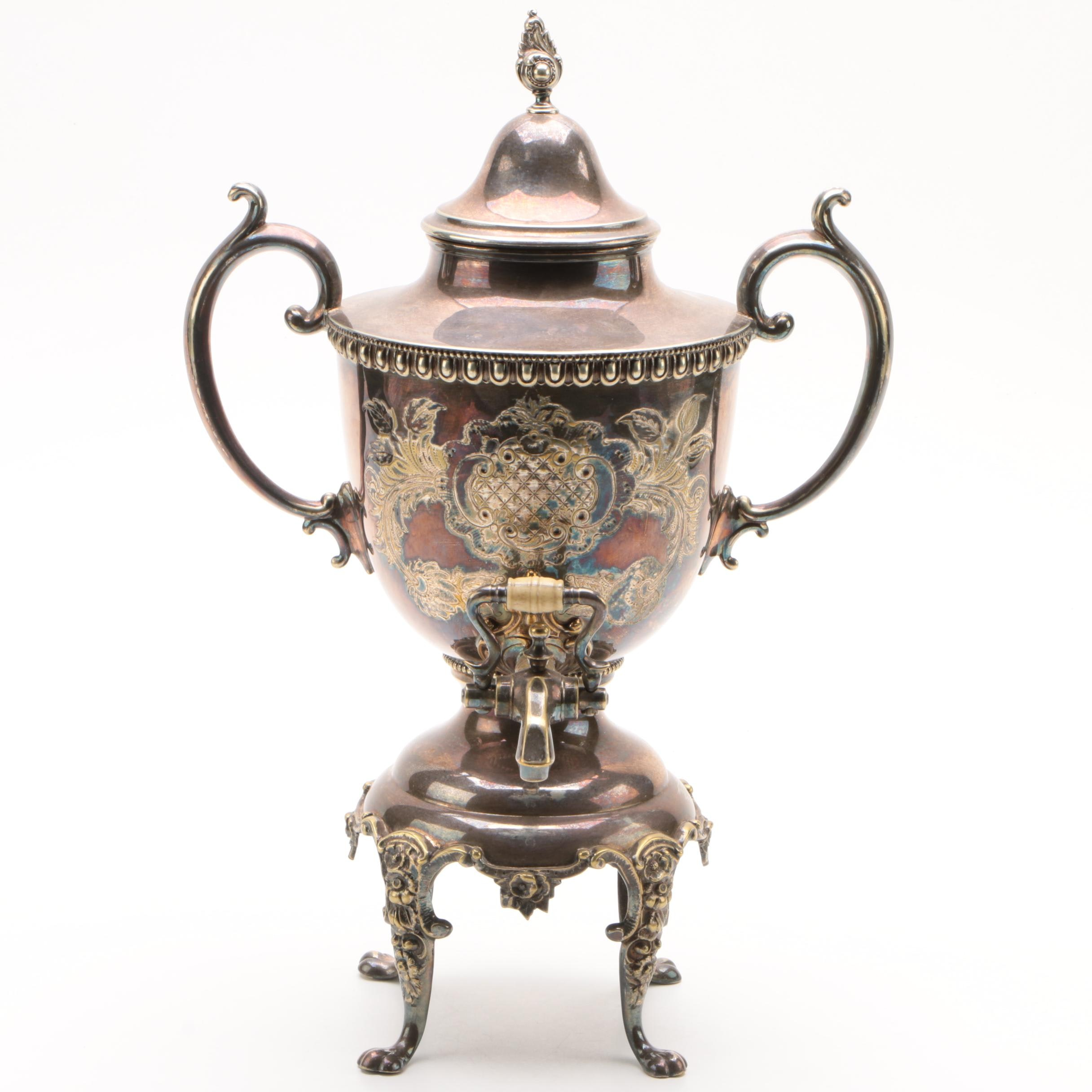 Silver-Plated Brass Samovar, Early 20th Century