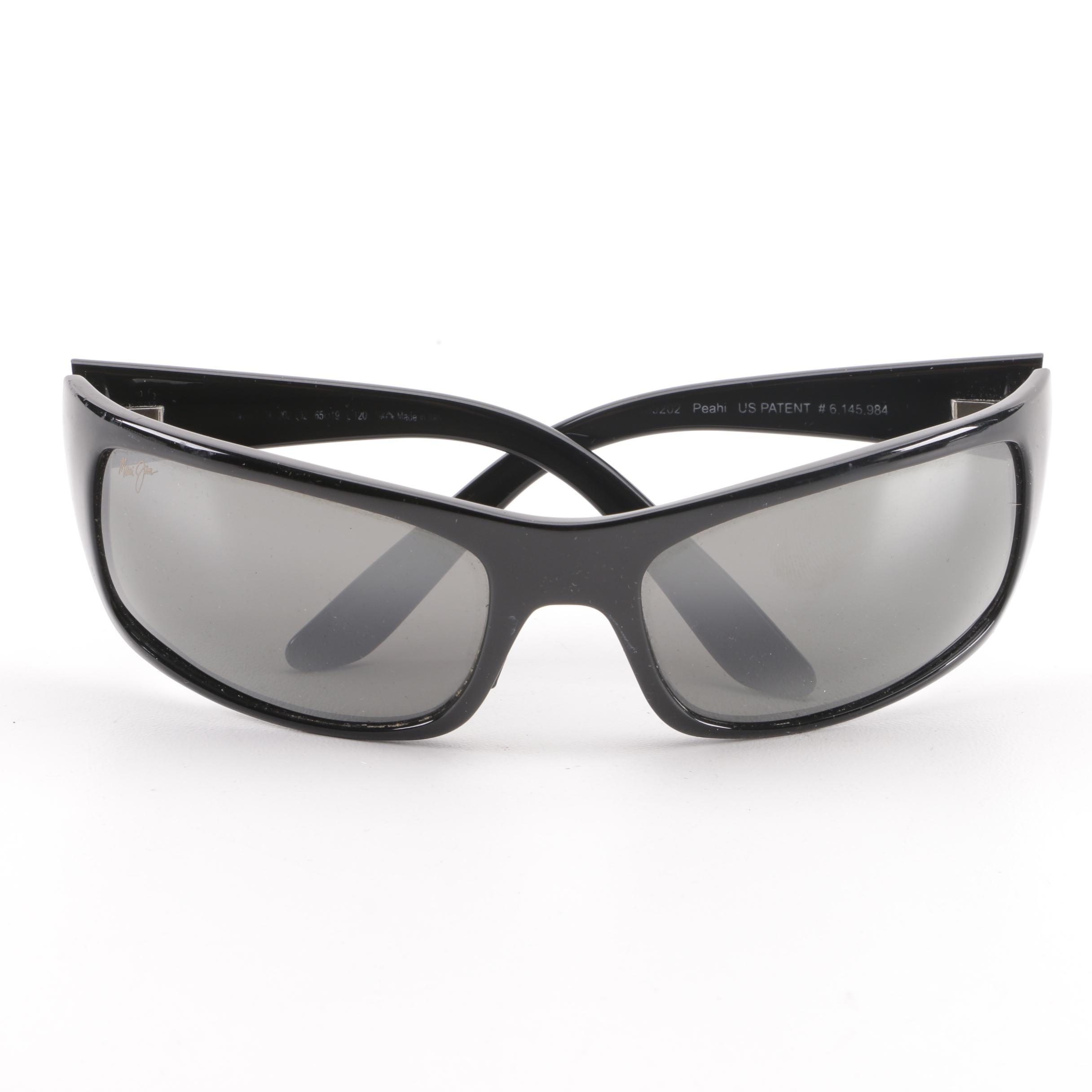 Maui Jim Black Peahi Sunglasses