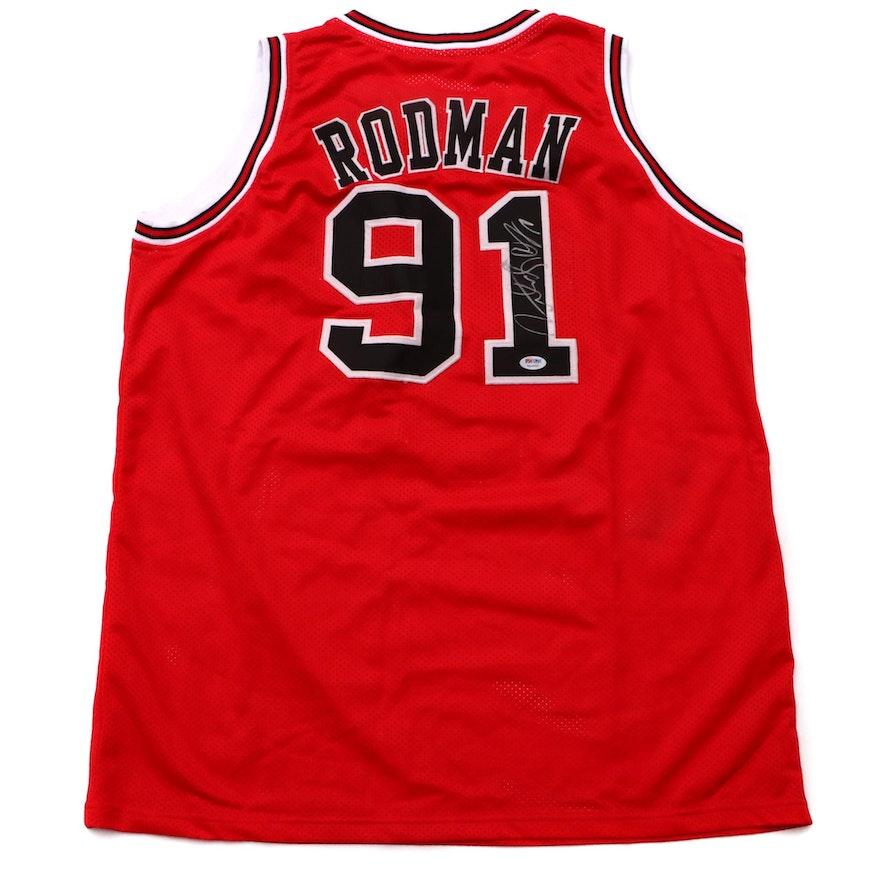 b4cb729f380 Dennis Rodman Signed Bulls Jersey COA   EBTH