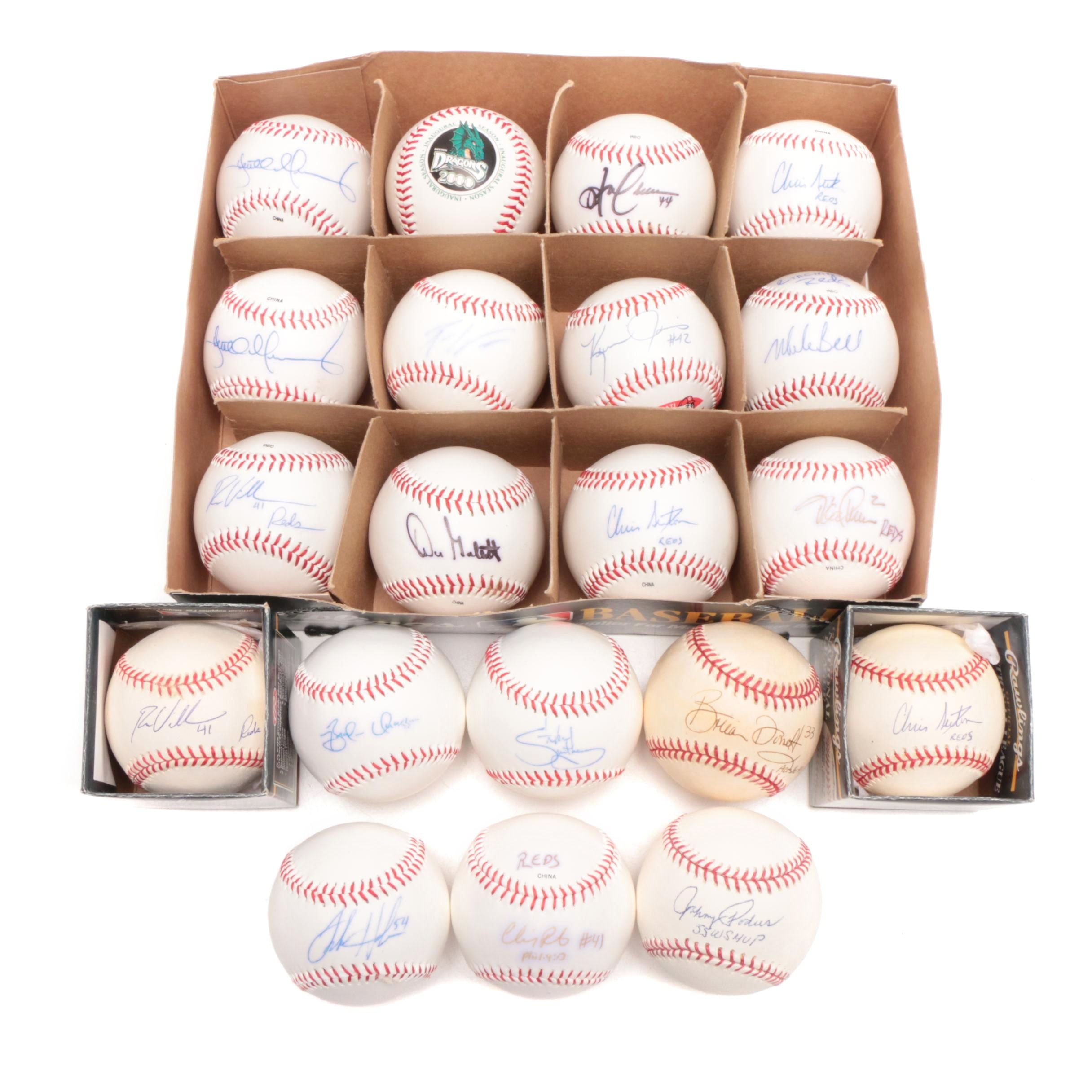 Assorted Signed Baseballs Including Don Gullett and Johnny Podres