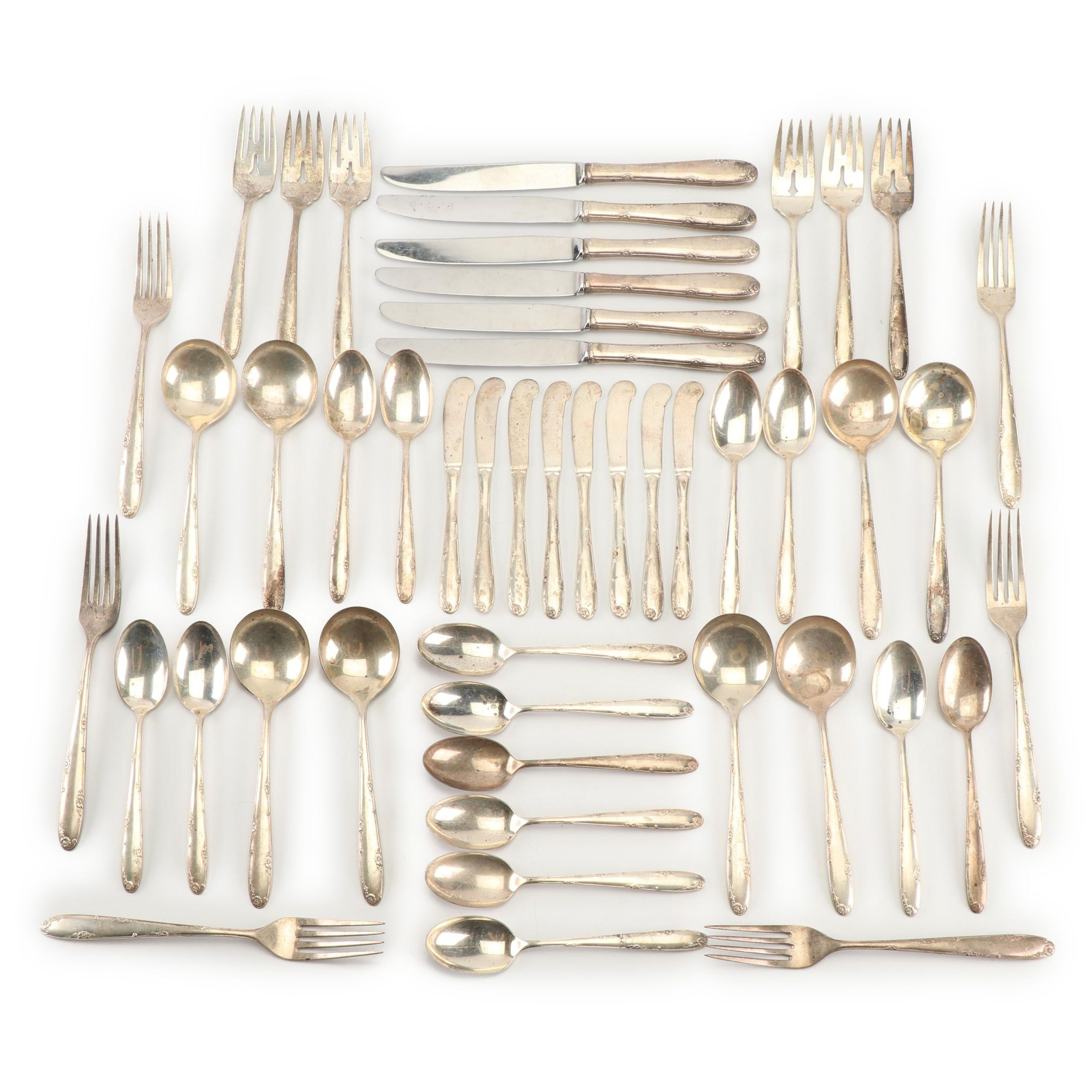 "Towle Silversmiths ""Madeira"" Sterling Silver Flatware Collection"