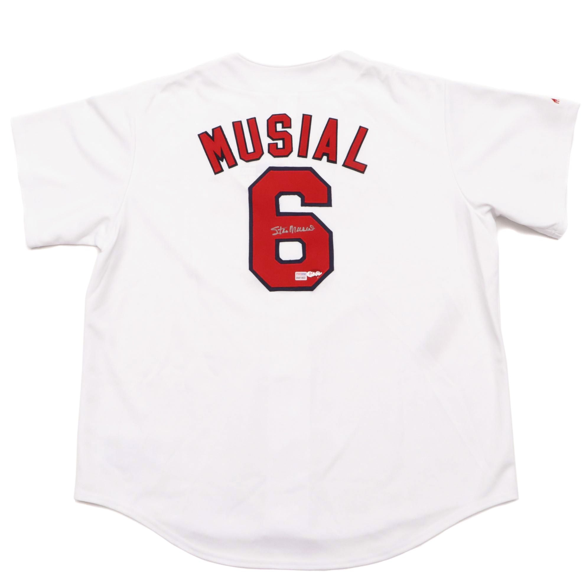 Stan Musial Signed Jersey  COA