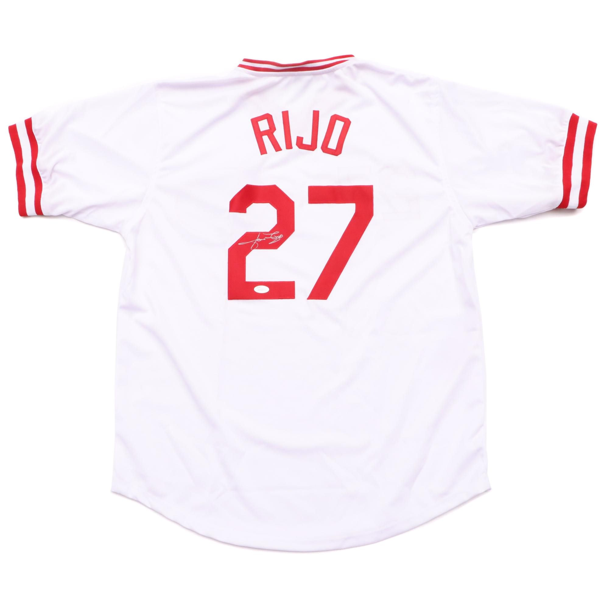 Jose Rijo Signed Reds Jersey  COA