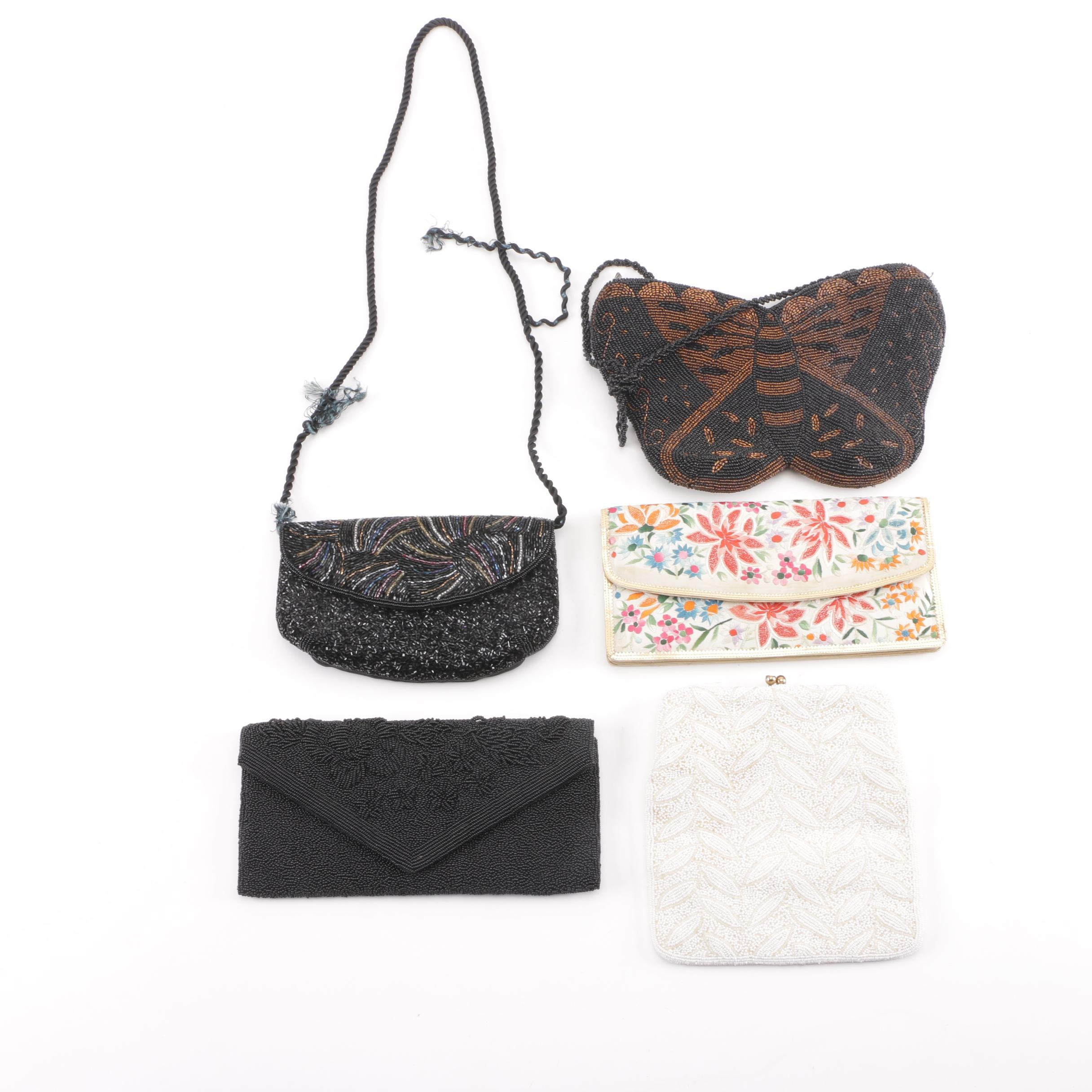 Vintage Beaded Evening Bags and Clutches Including Magid
