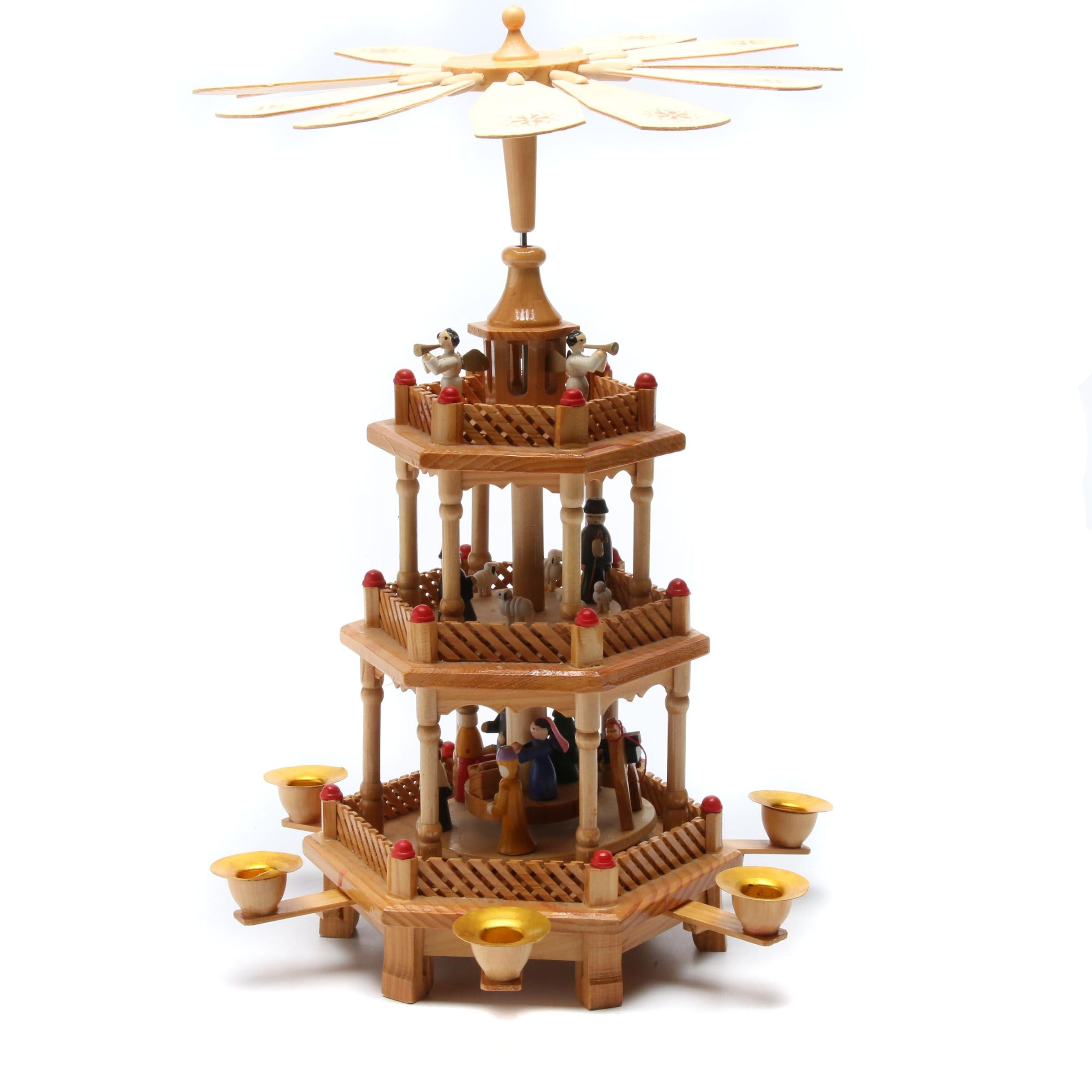 Pyramid Nativity Candle Carousel
