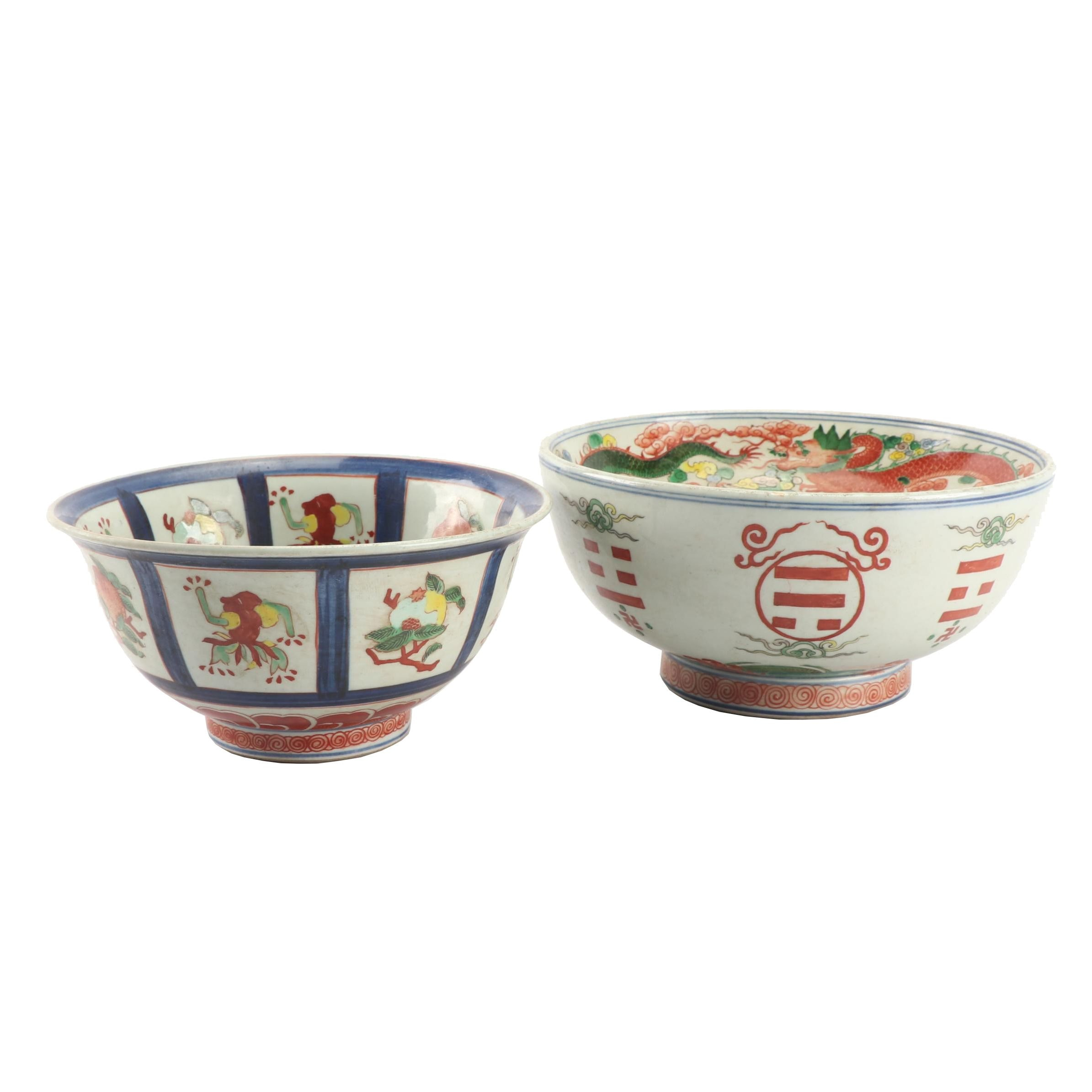 Chinese Hand-Painted Porcelain Bowls
