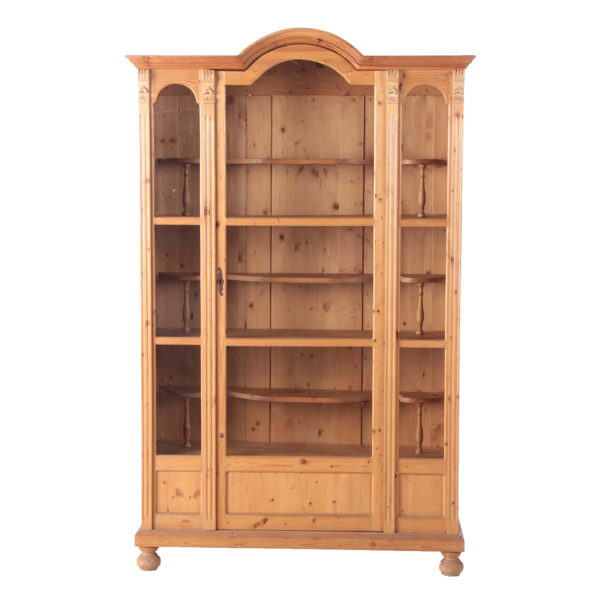 Continental Pine Display Cabinet, 20th Century