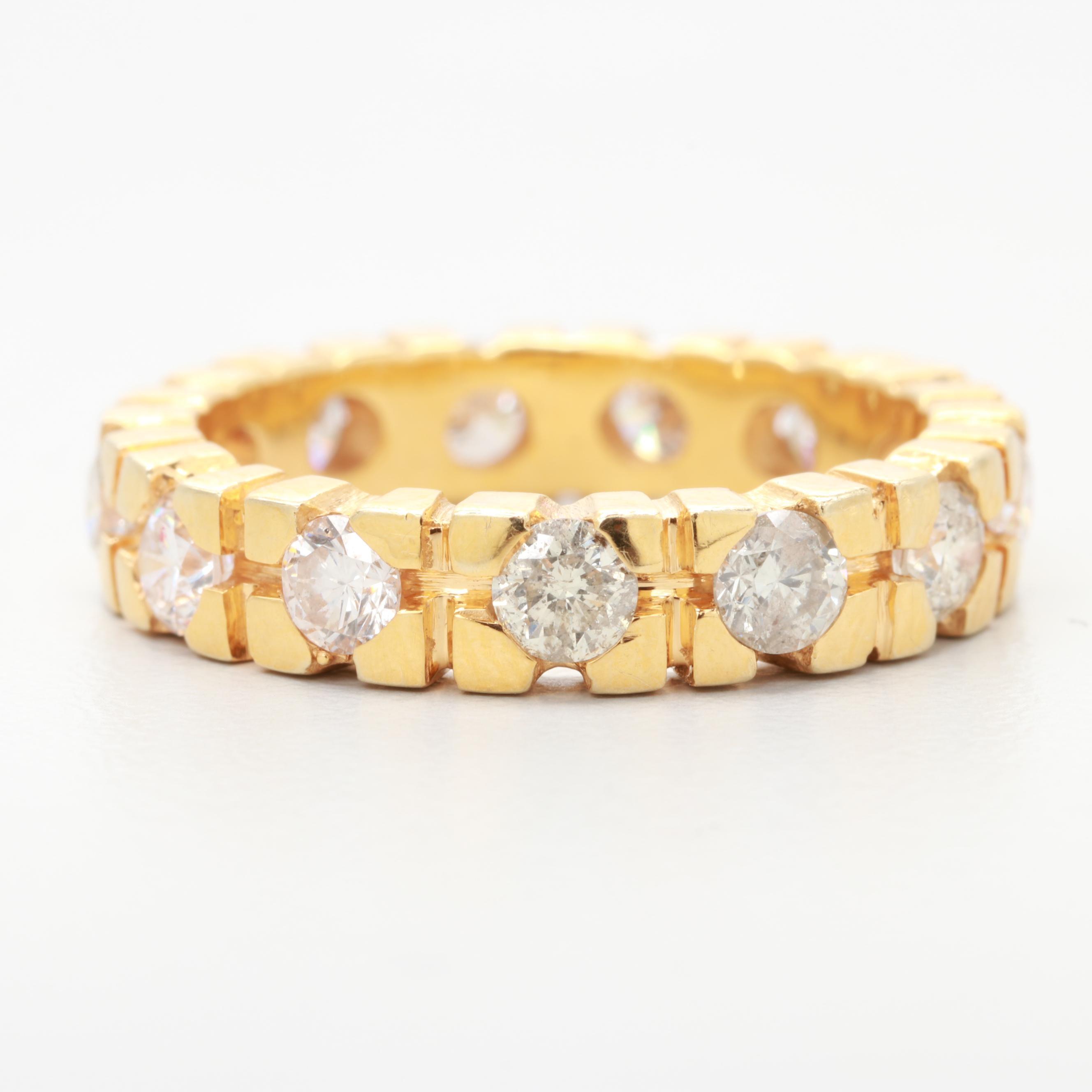 14K Yellow Gold 1.62 CTW Diamond Eternity Ring