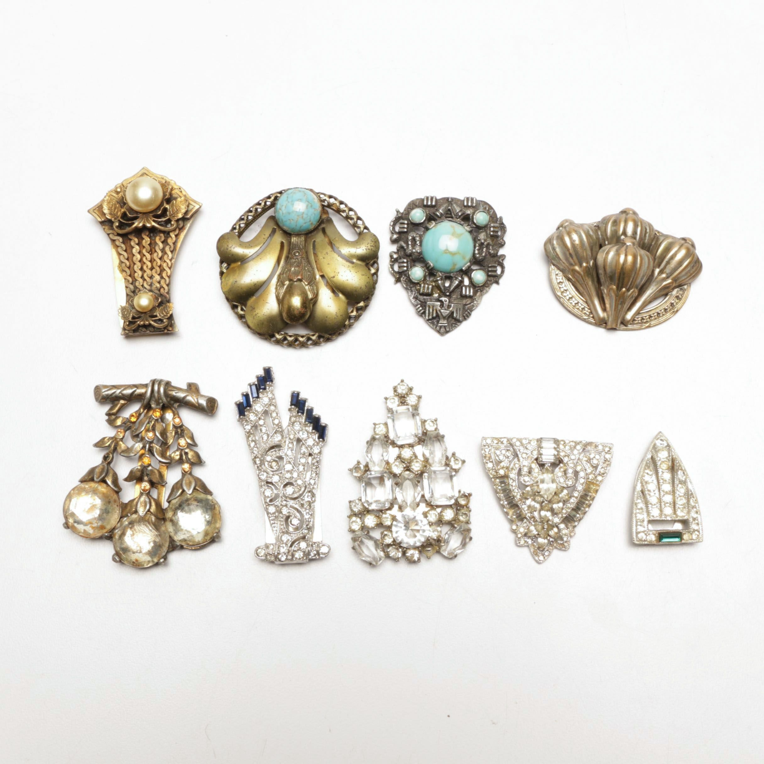 Victorian to Art Deco Style Dress Clips