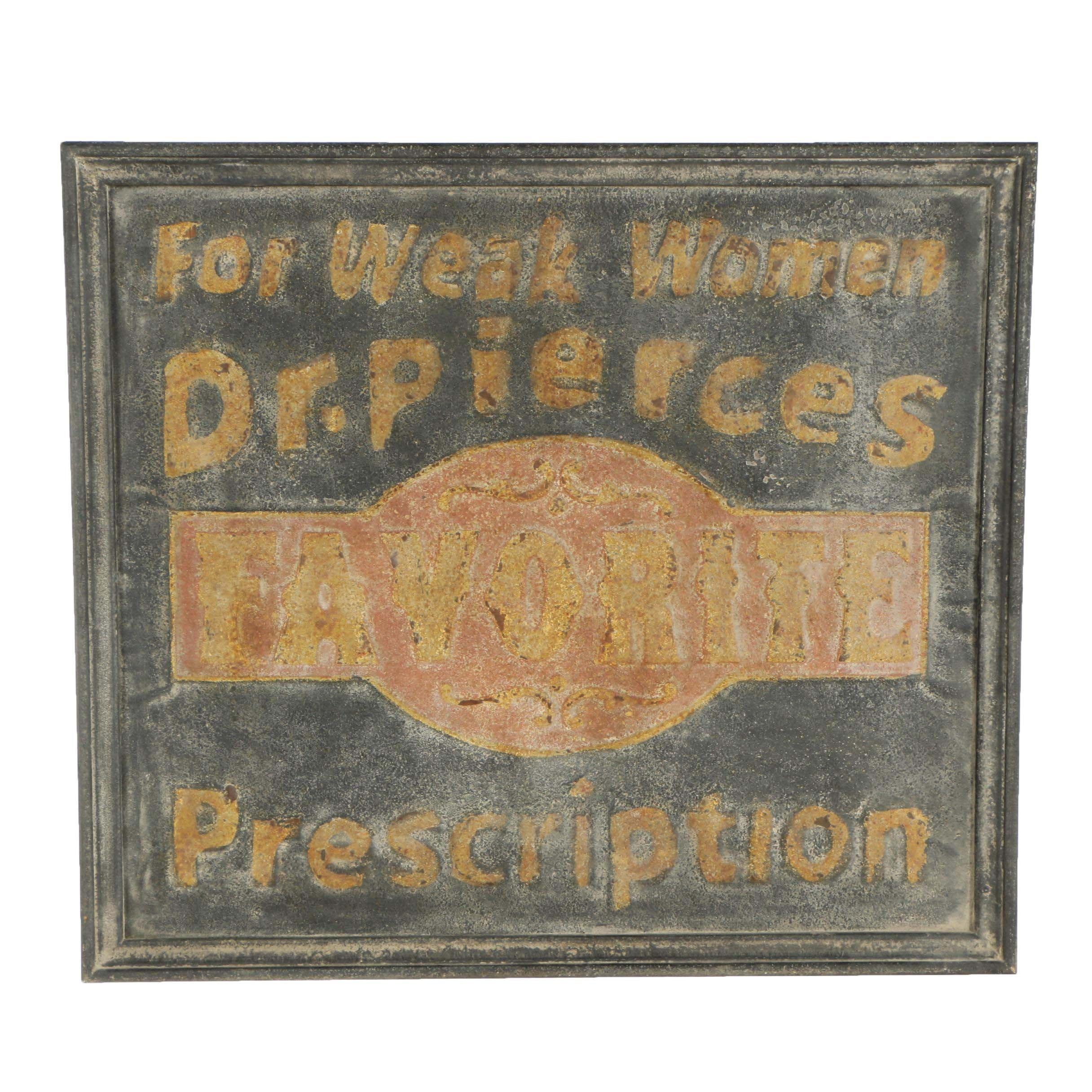 Rusticated Metal Druggist Sign