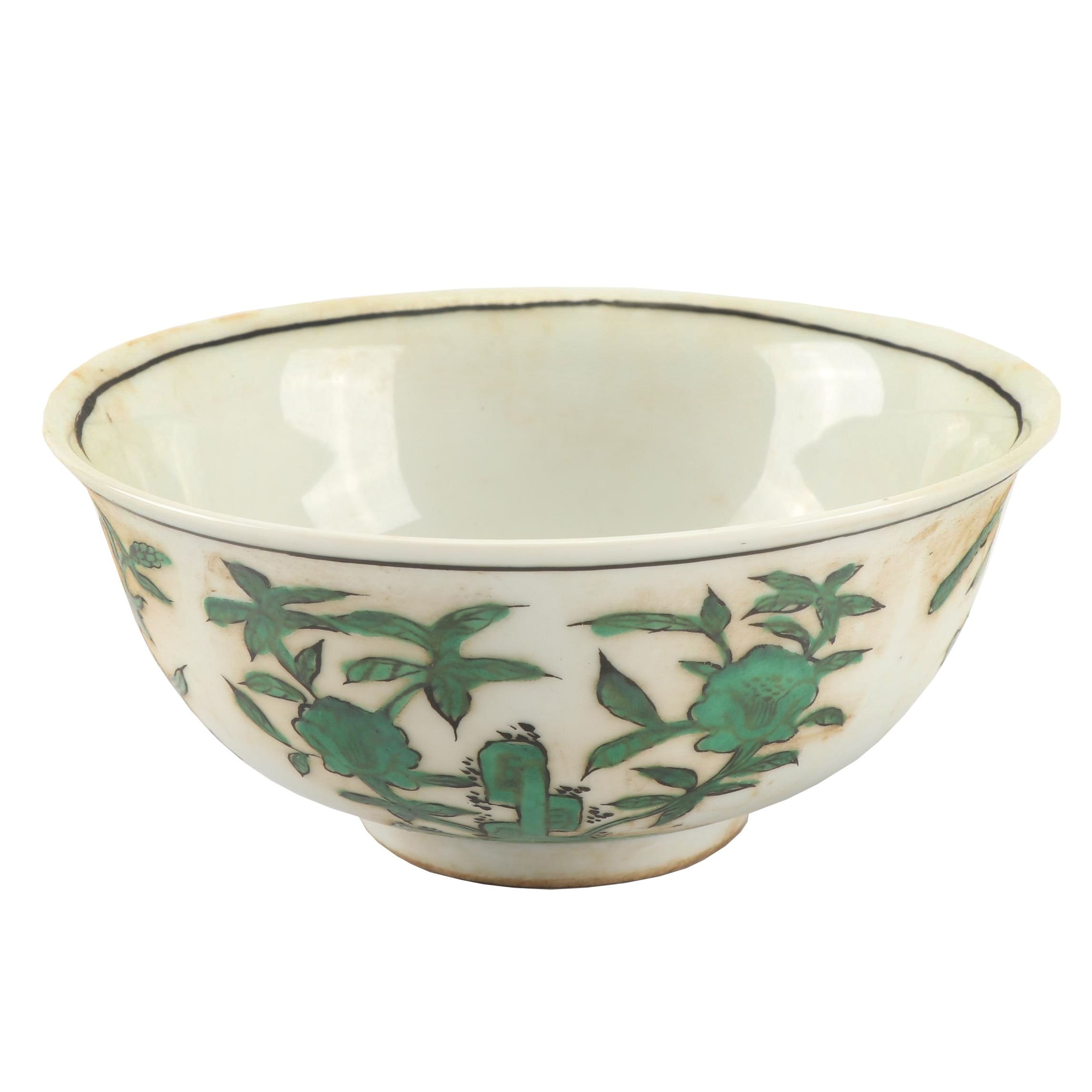 Chinese Hand-Embellished Porcelain Bowl