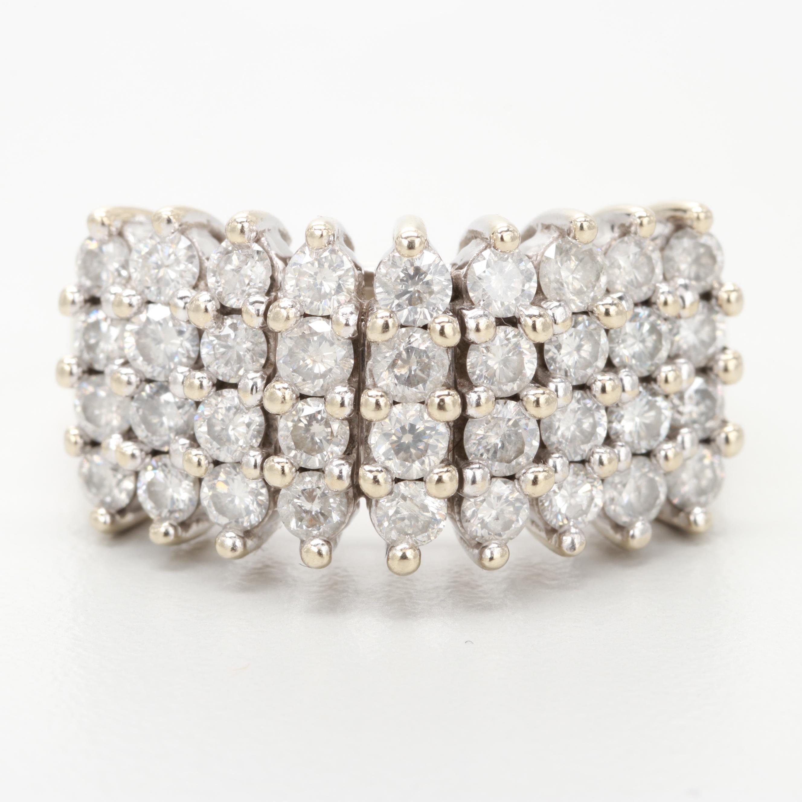 14K White Gold 2.02 CTW Diamond Ring