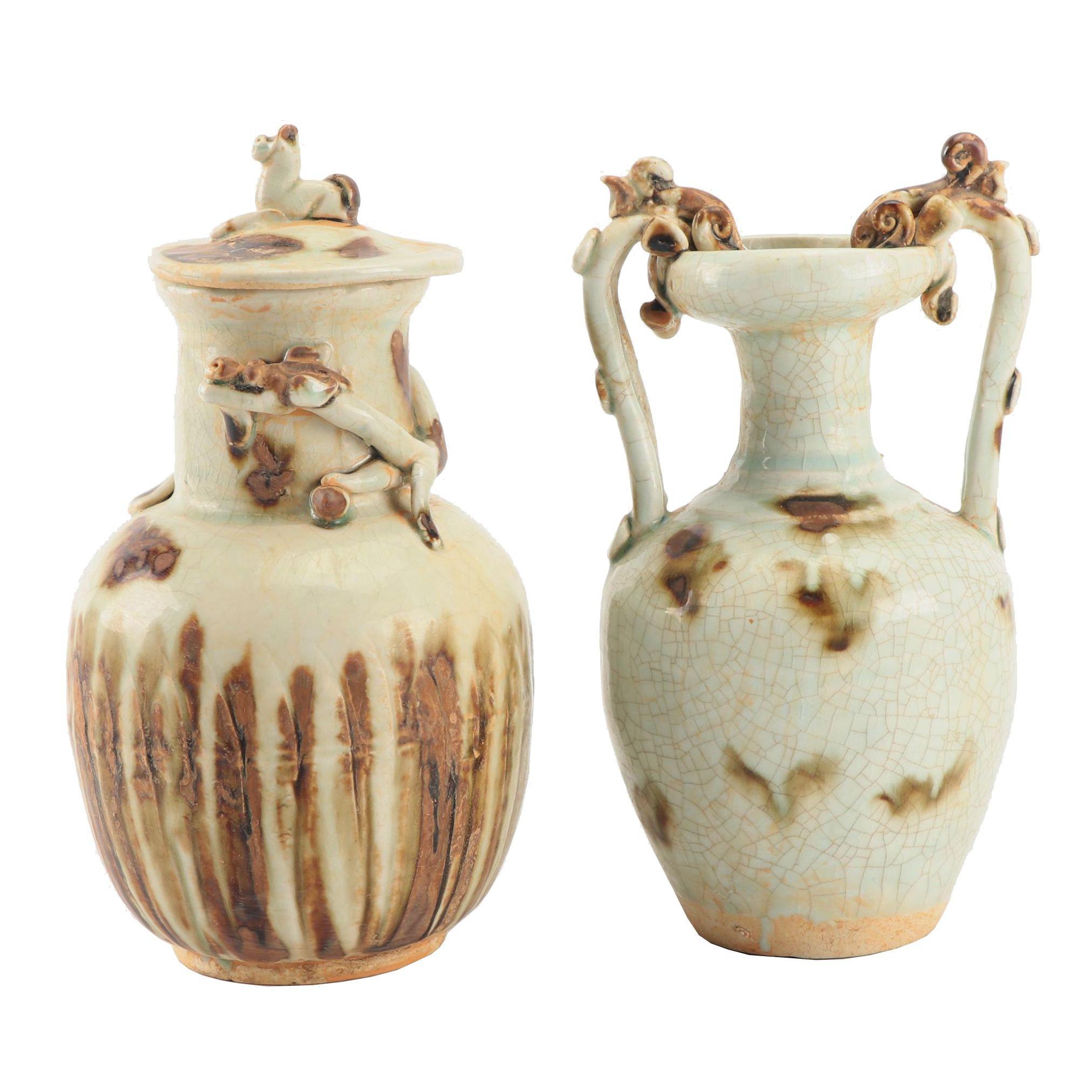 Chinese Drip Glaze Ceramic Vases