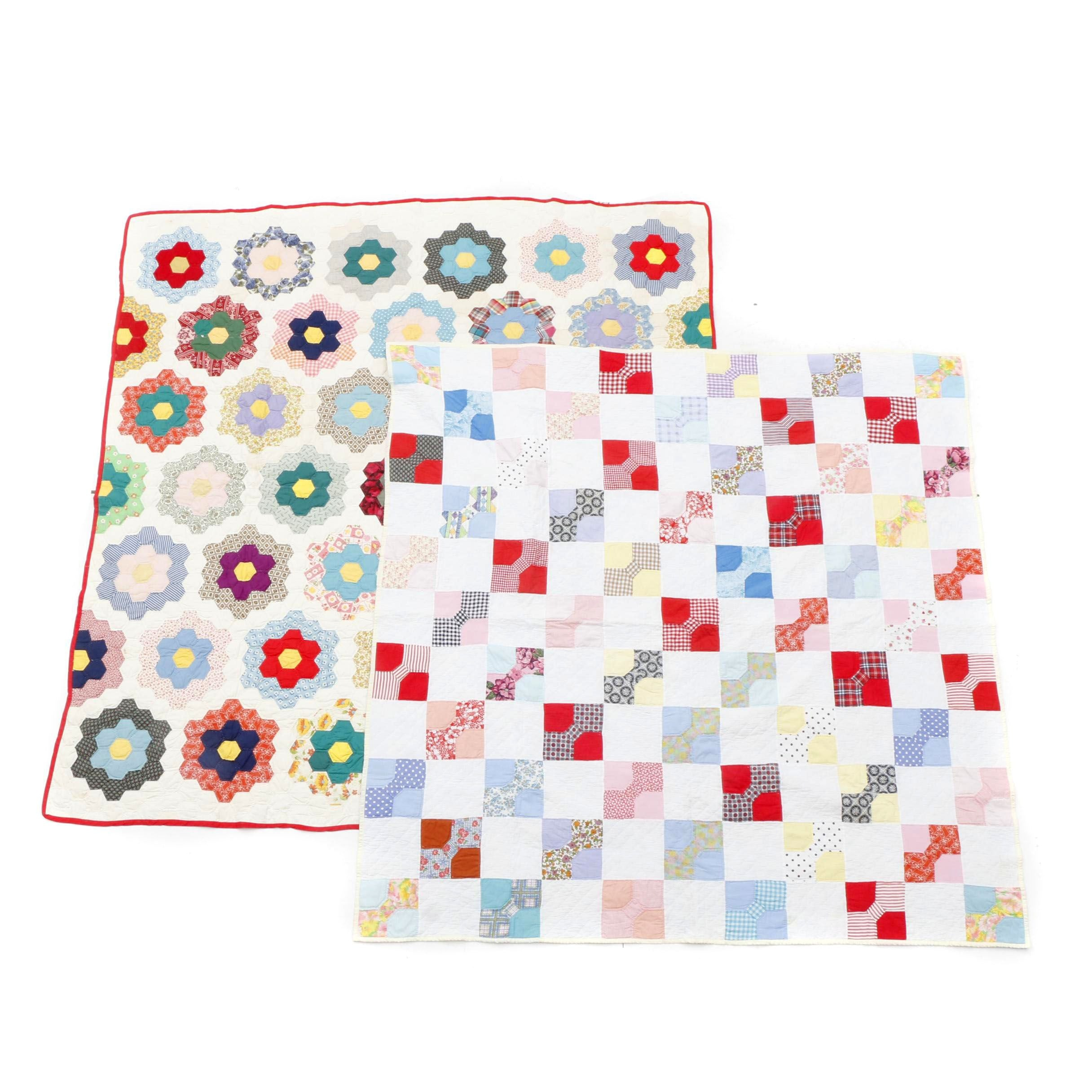 Pair of Hand-Crafted Quilts