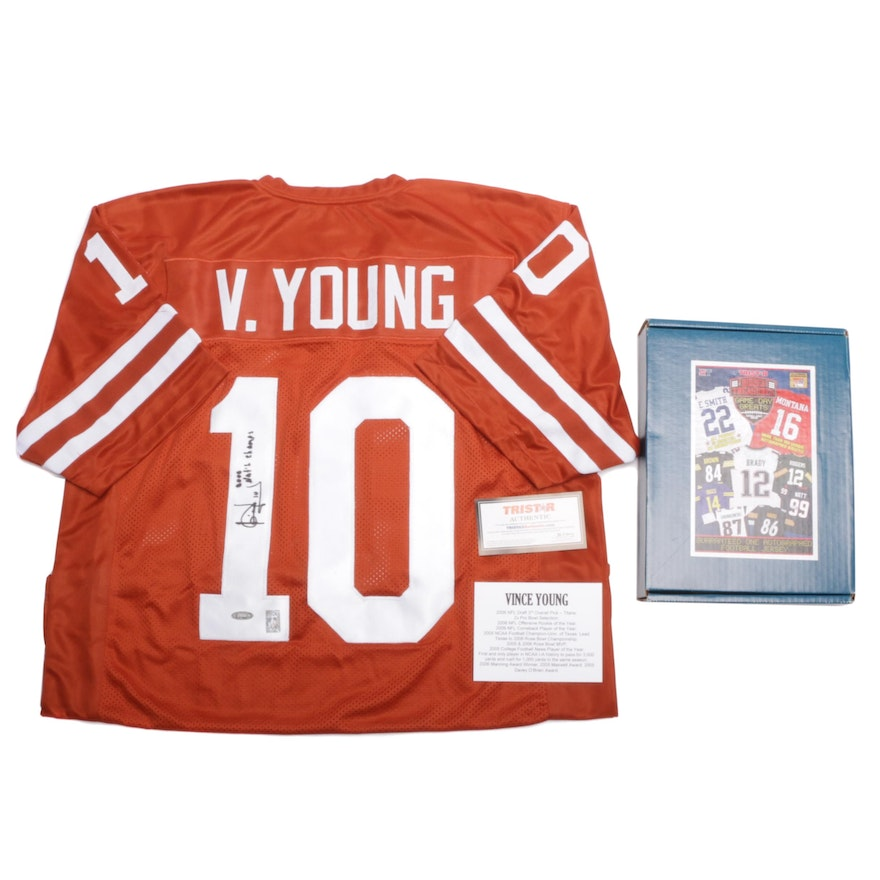 promo code 1b222 1300a Vince Young Signed Texas Longhorns Football Jersey Tristar COA