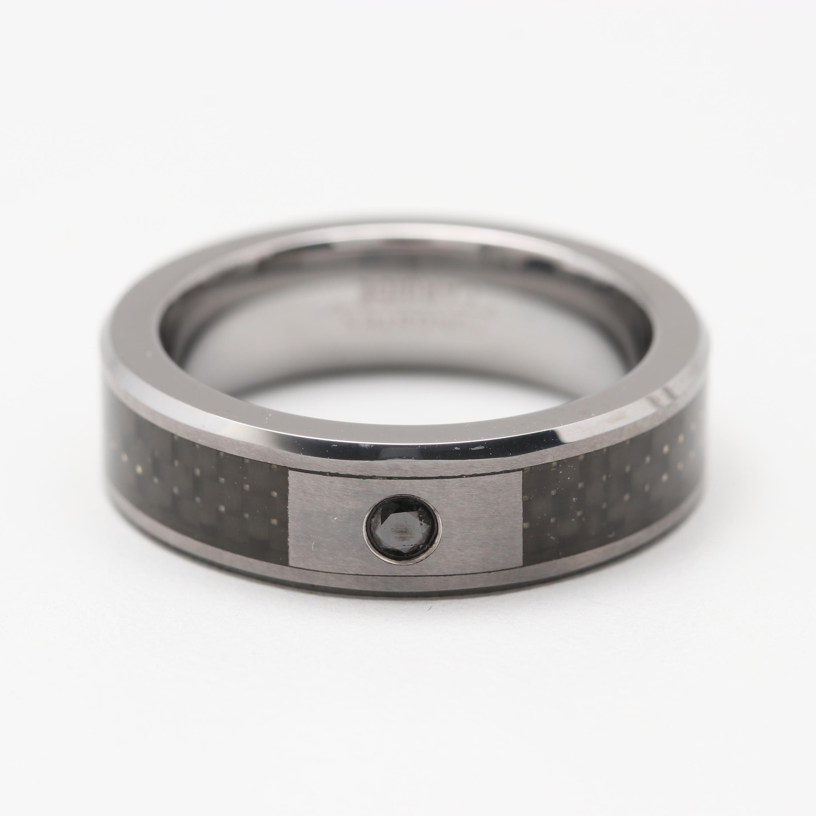 Tungsten Diamond Ring