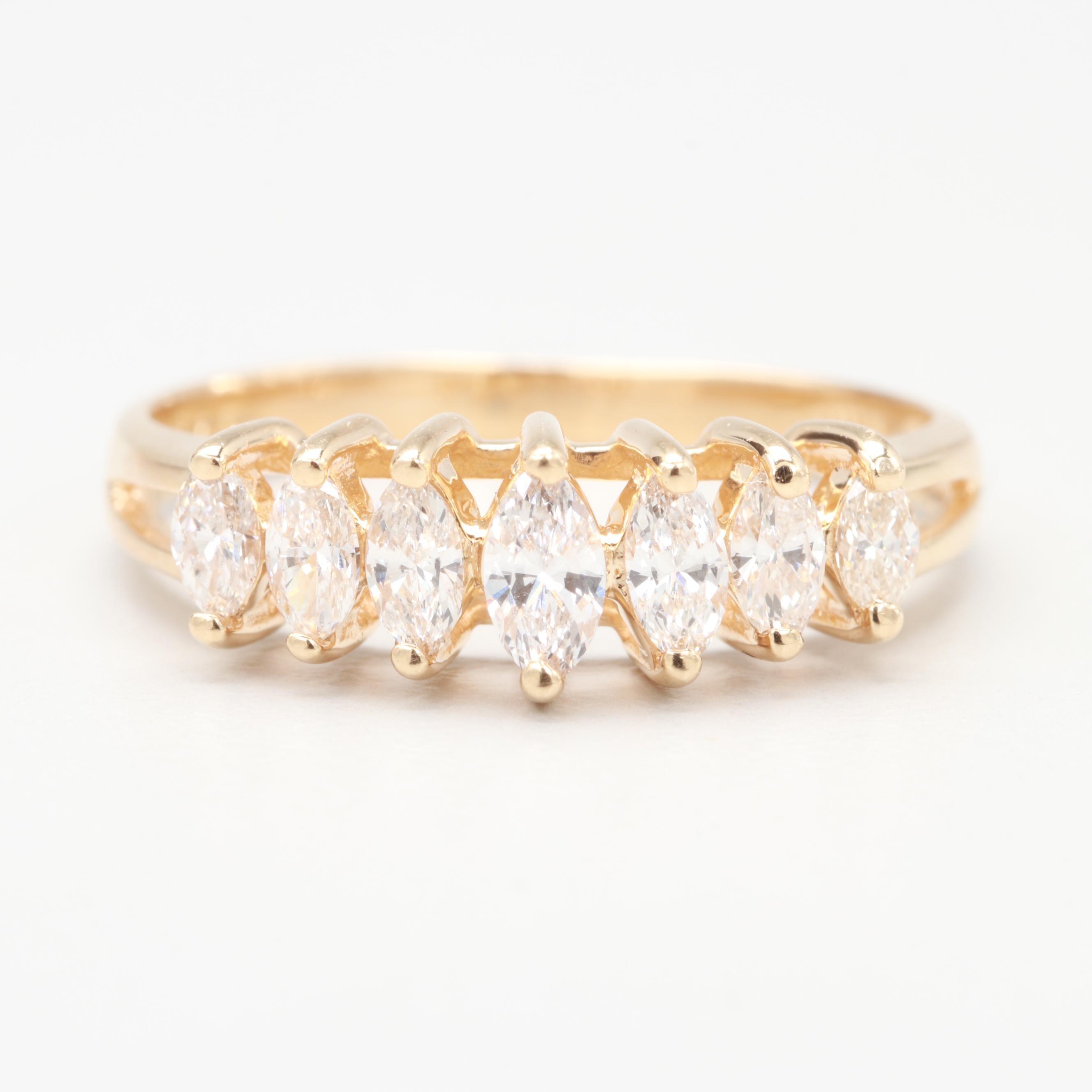 14K Yellow Gold 1.80 CTW Diamond Ring