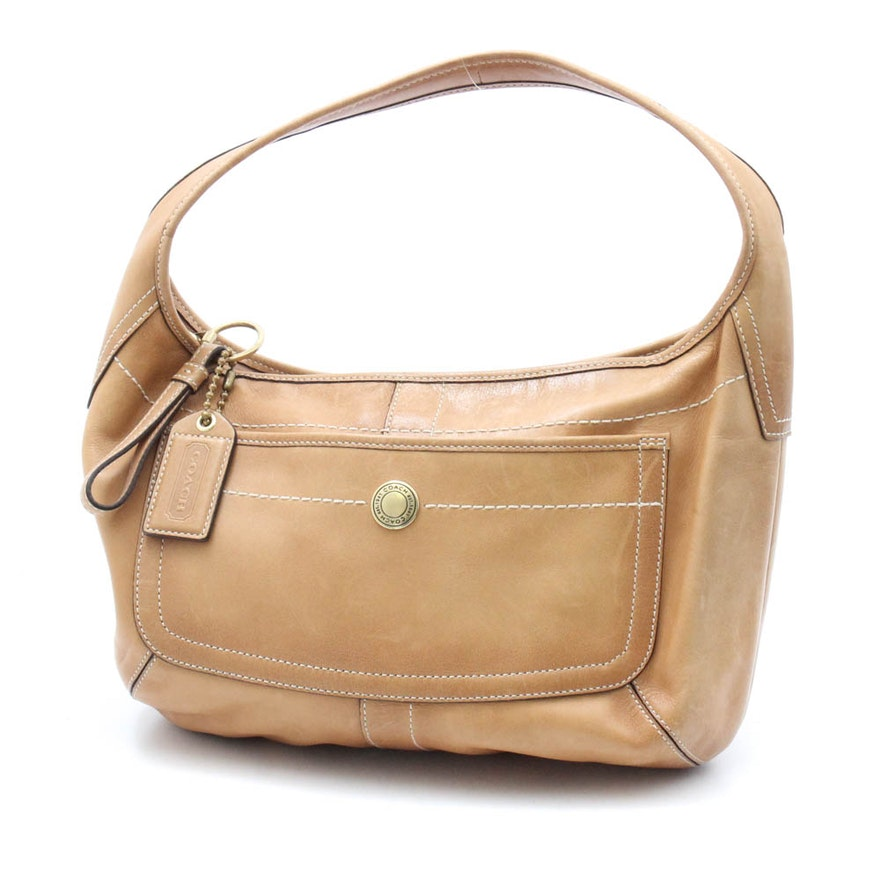 4a6af436f01e Coach Leather Hobo Bag   EBTH