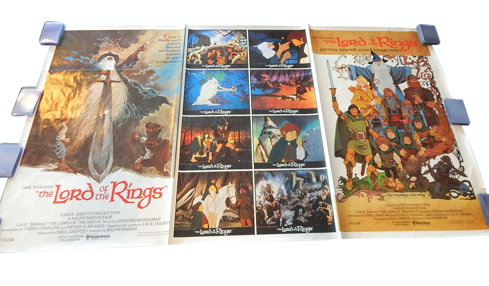 "J.R.R. Tolkien's ""The Lord of the Rings"" Uncut Posters, Late 1970s"