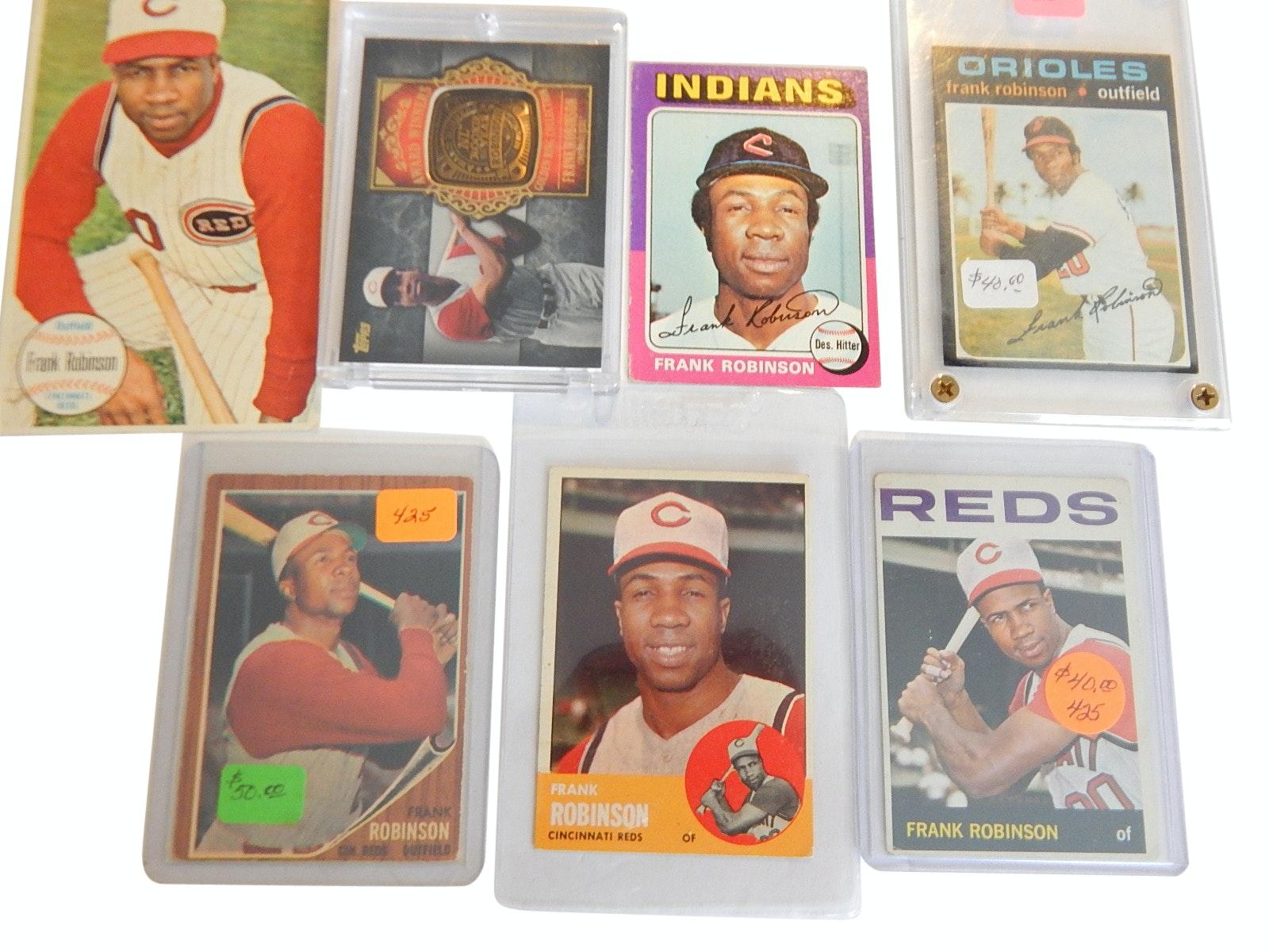 Frank Robinson Baseball Card Lot from 1962 to 2012