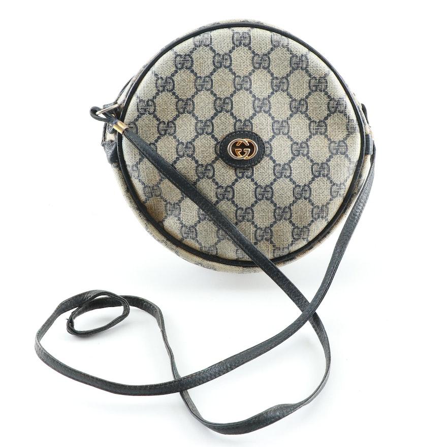 9f6709b2c32 Vintage Gucci GG Supreme Canvas Round Crossbody Bag   EBTH