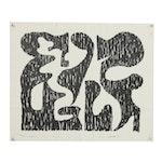 "Arthur Helwig Lithograph ""Composition 3"""