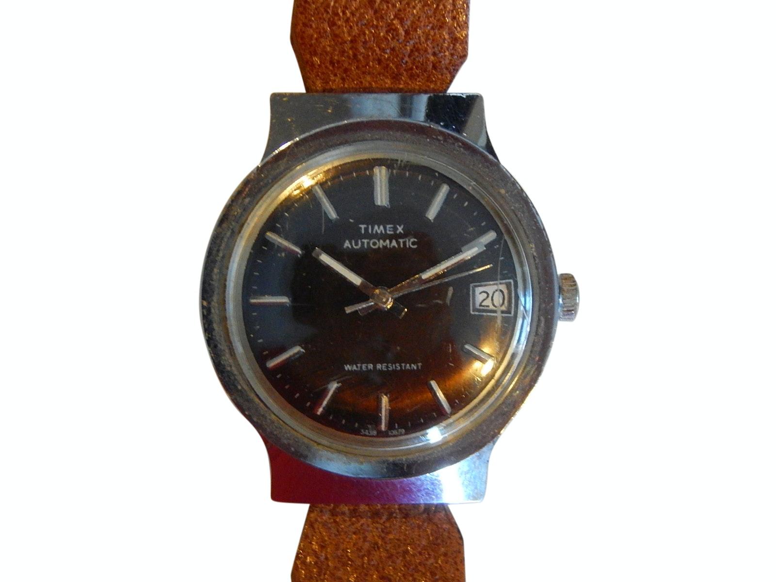 Timex Silver-Tone Automatic Wristwatch