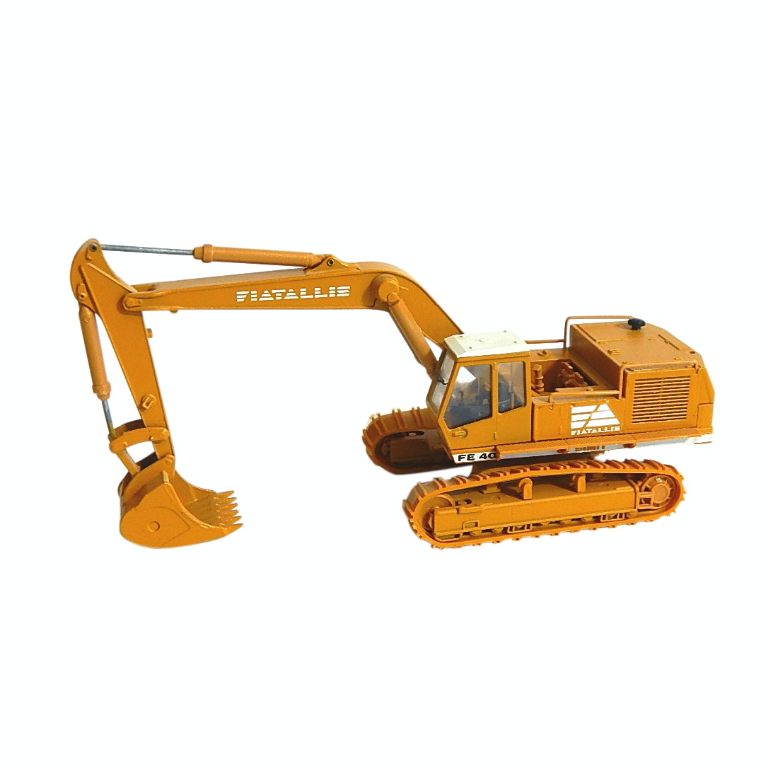 Die Cast Old Cars 1:50 Fiat Allis FE 40 Simit Excavator - Italy