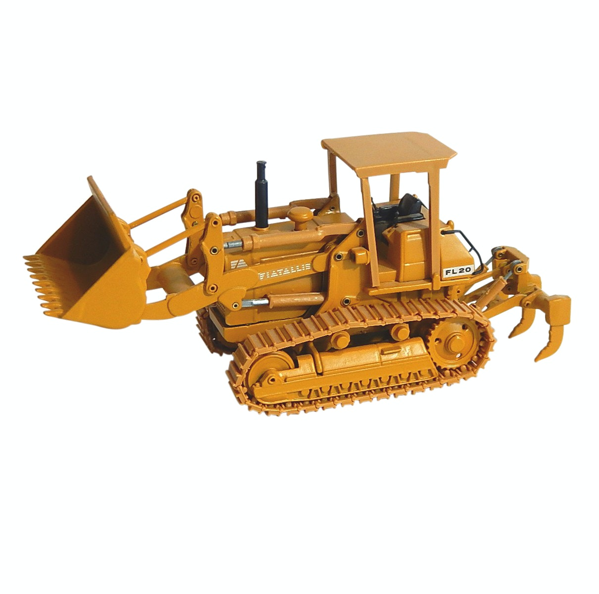 Die Cast Old Cars Fiat Allis FL20 1:50 Scale Crawler Loader - Italy