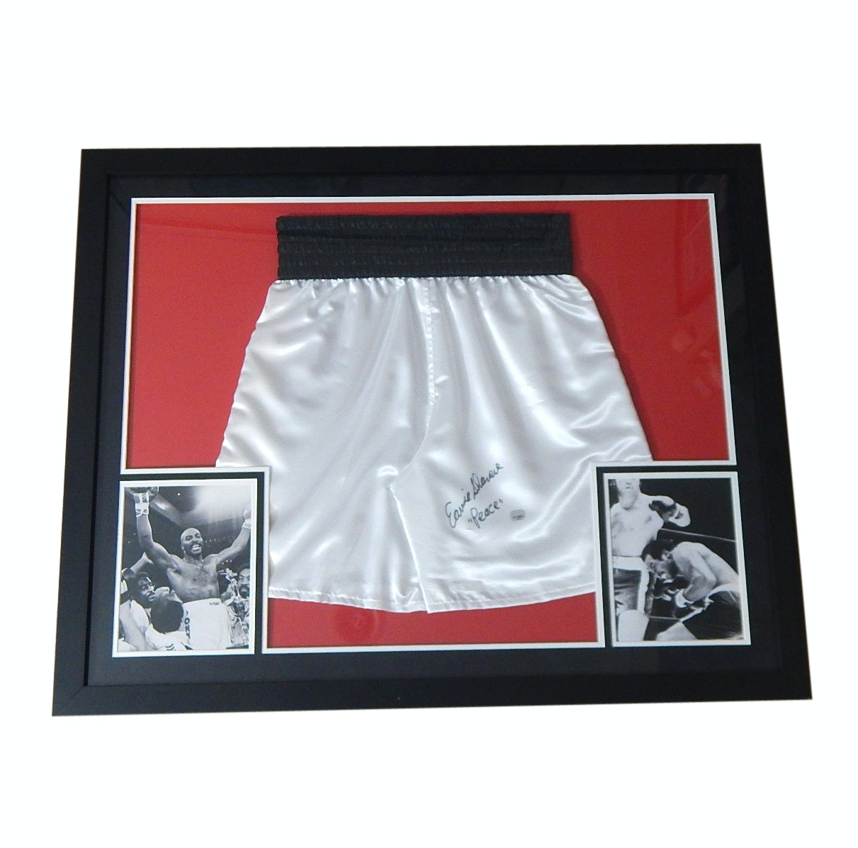 Boxing Earnie Shavers Signed Boxing Shorts and Photograph - Authenticated