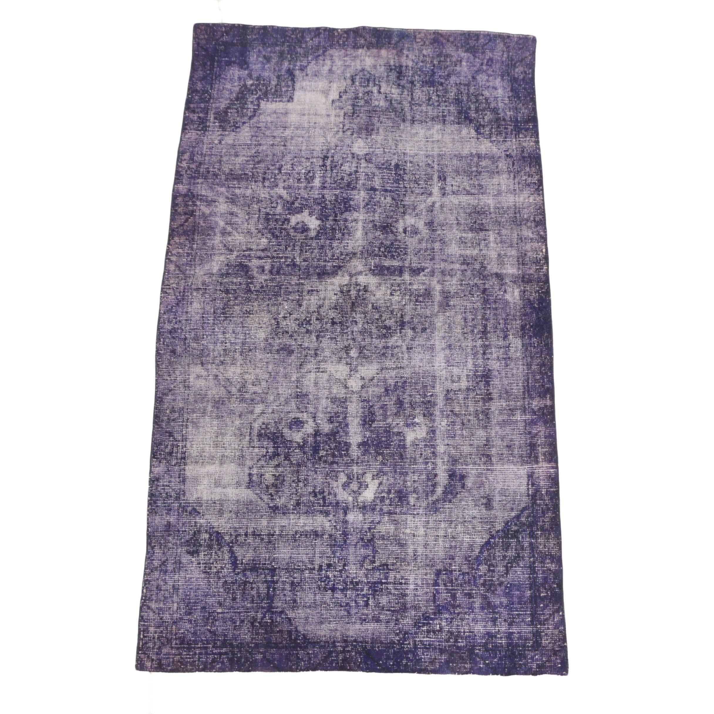 Hand-Knotted Overdyed Turkish Wool Rug