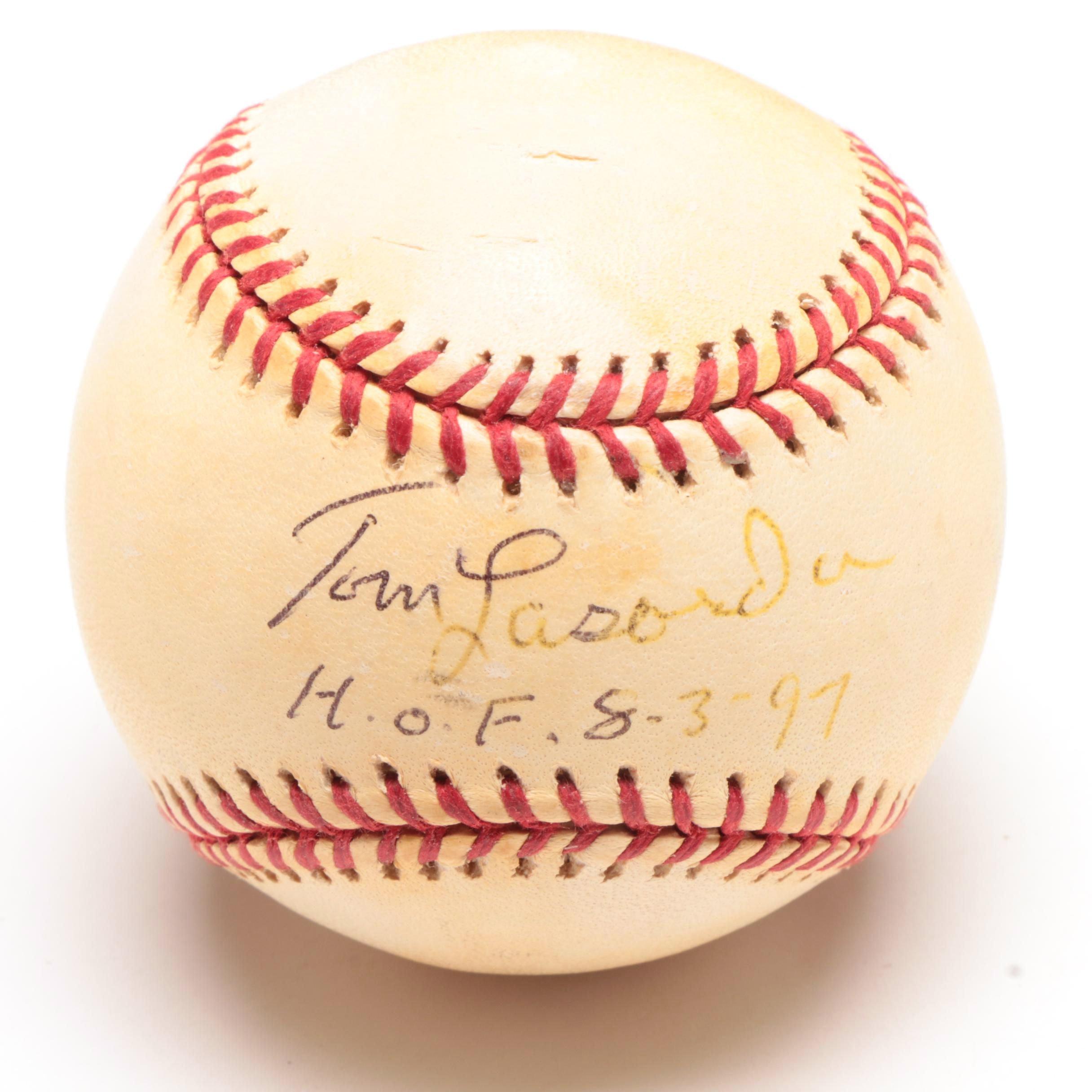 (HOF) Tom Lasorda Signed Rawlings National League Baseball