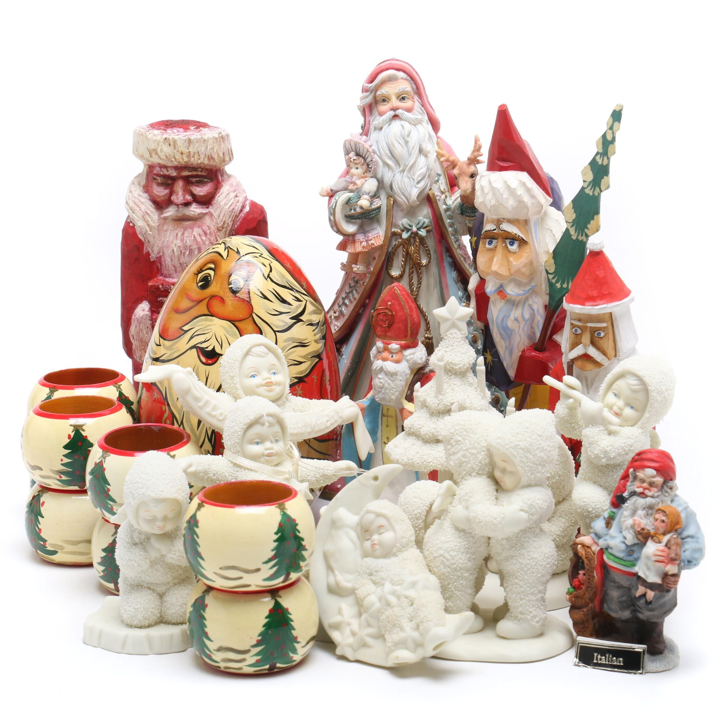 Santas and Department 56 Snowbabies