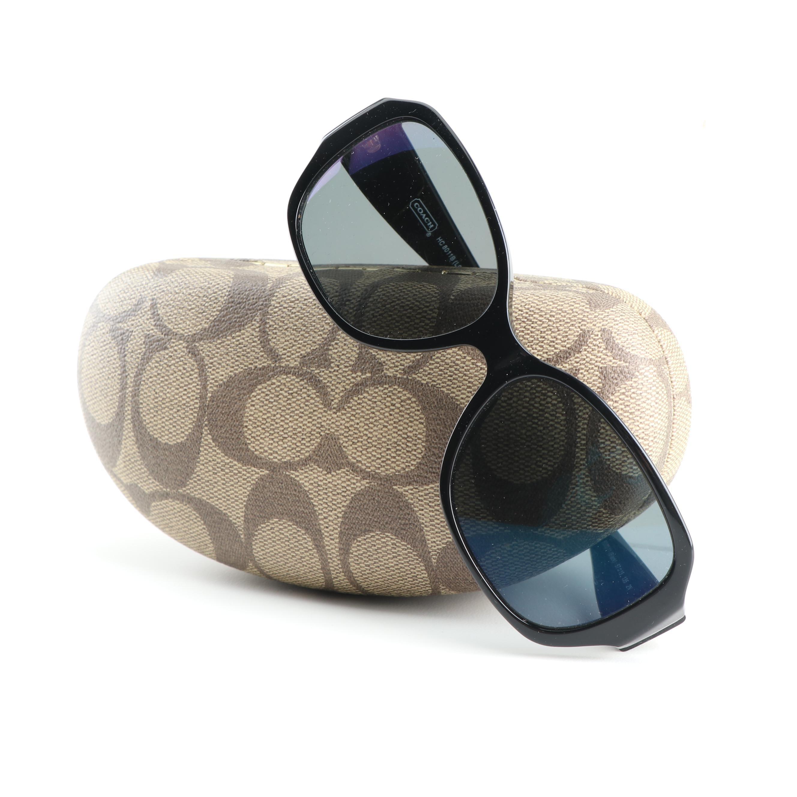 Coach HC 8011B Prescription Polarized Sunglasses with Case