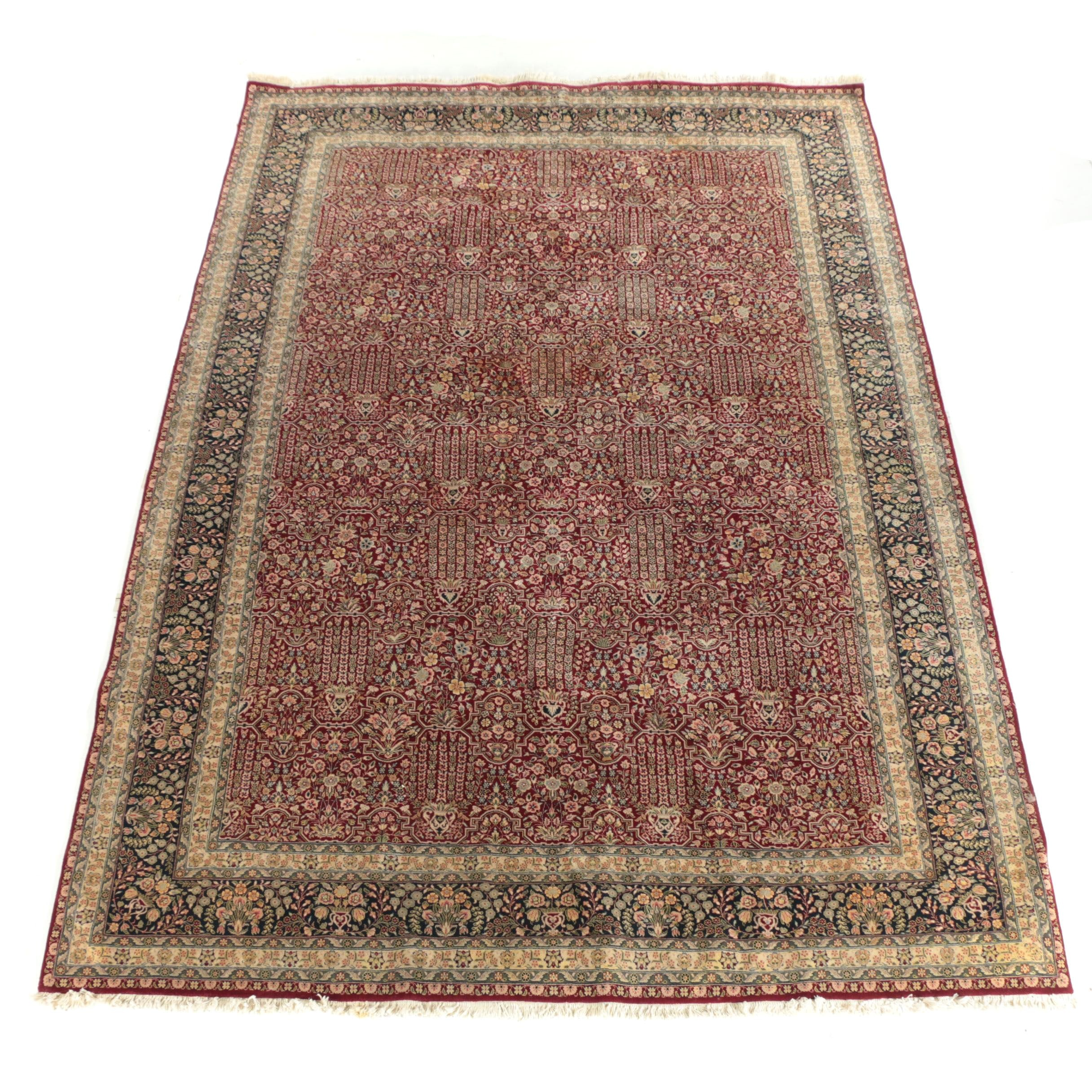 "Hand-Knotted Sino-Persian ""Garden"" Wool Room Sized Rug"