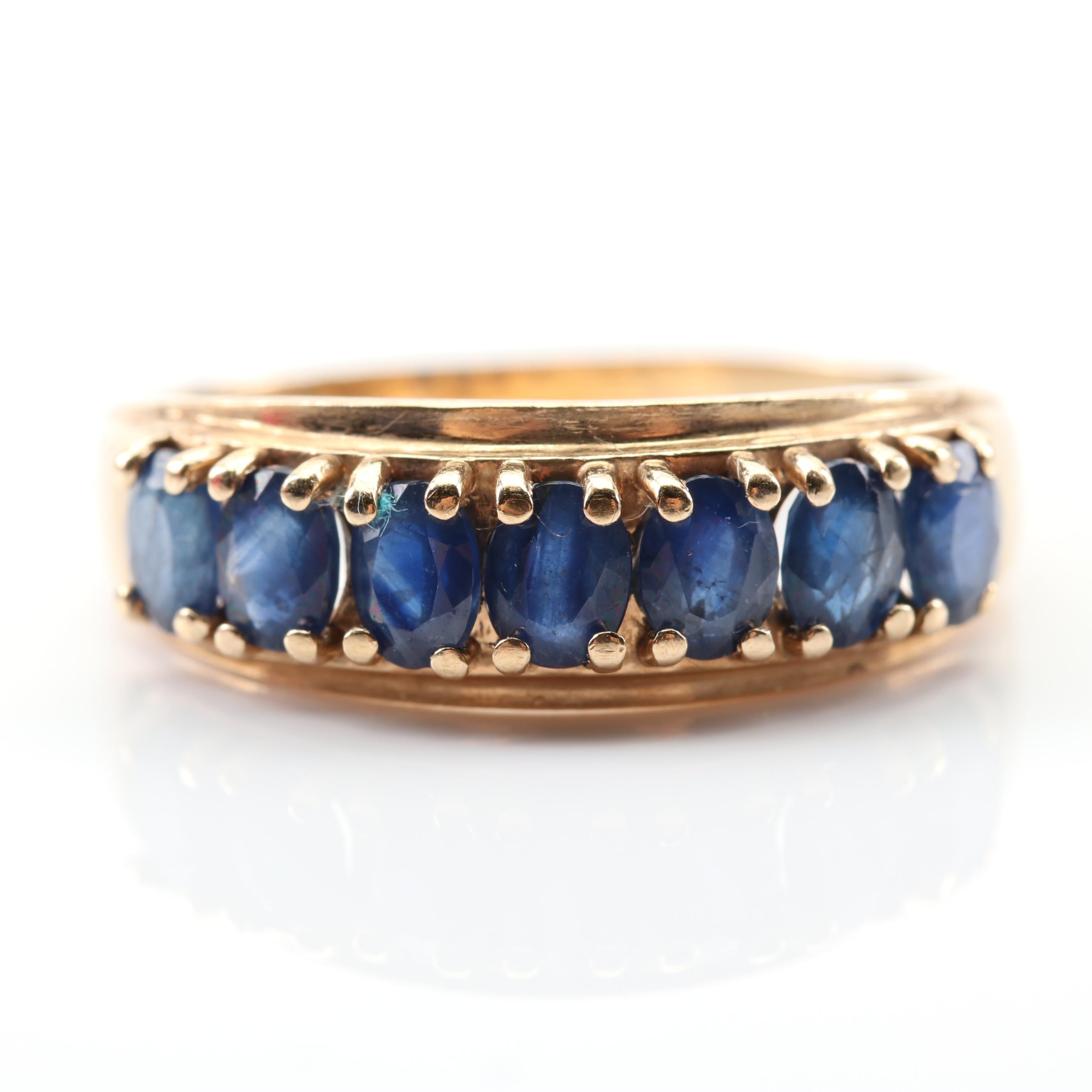 10K Yellow Gold 1.30 CTW Sapphire Ring