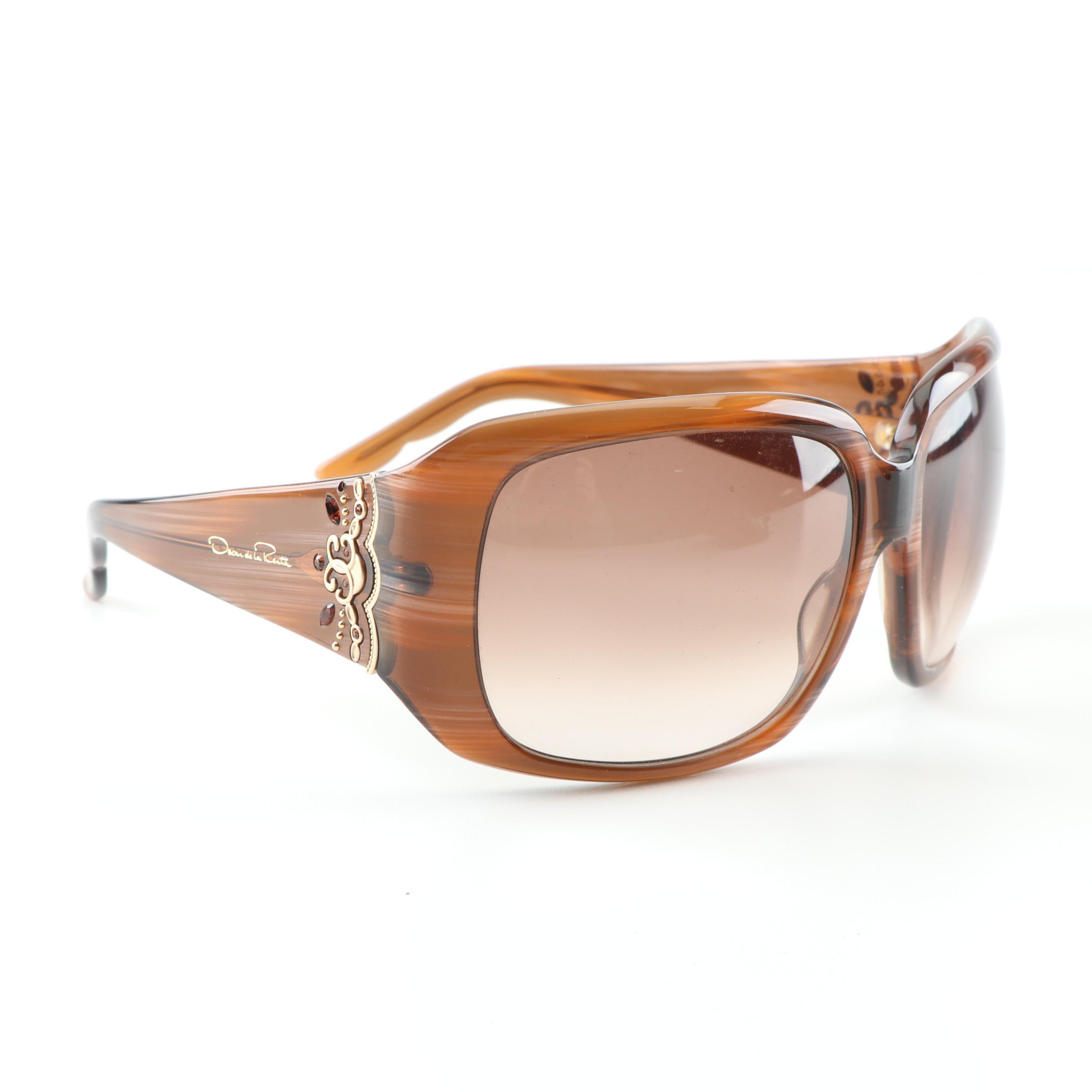 Oscar de la Renta ODLRS 140 Wrap Sunglasses