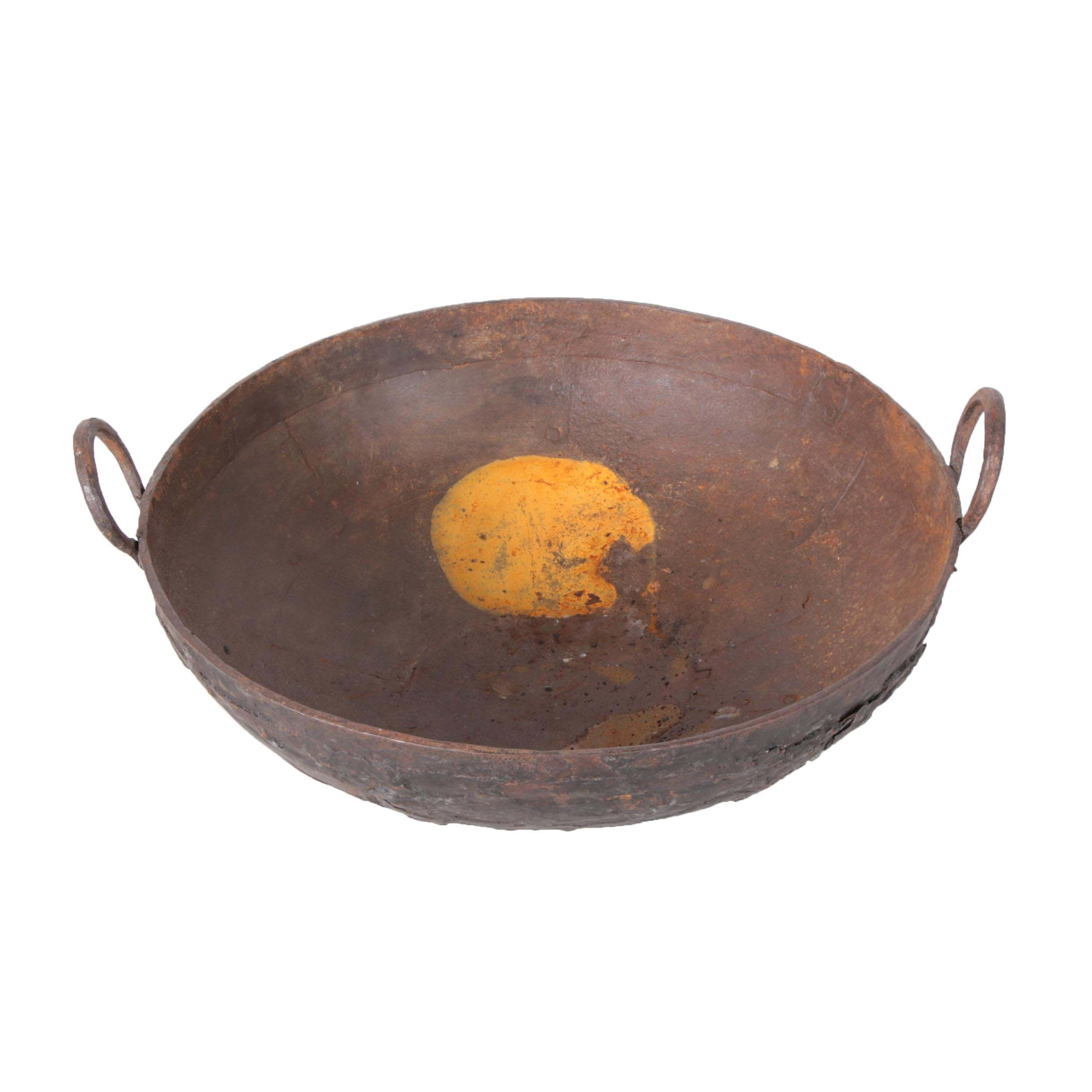 Indian Iron Kadai Fire Bowl