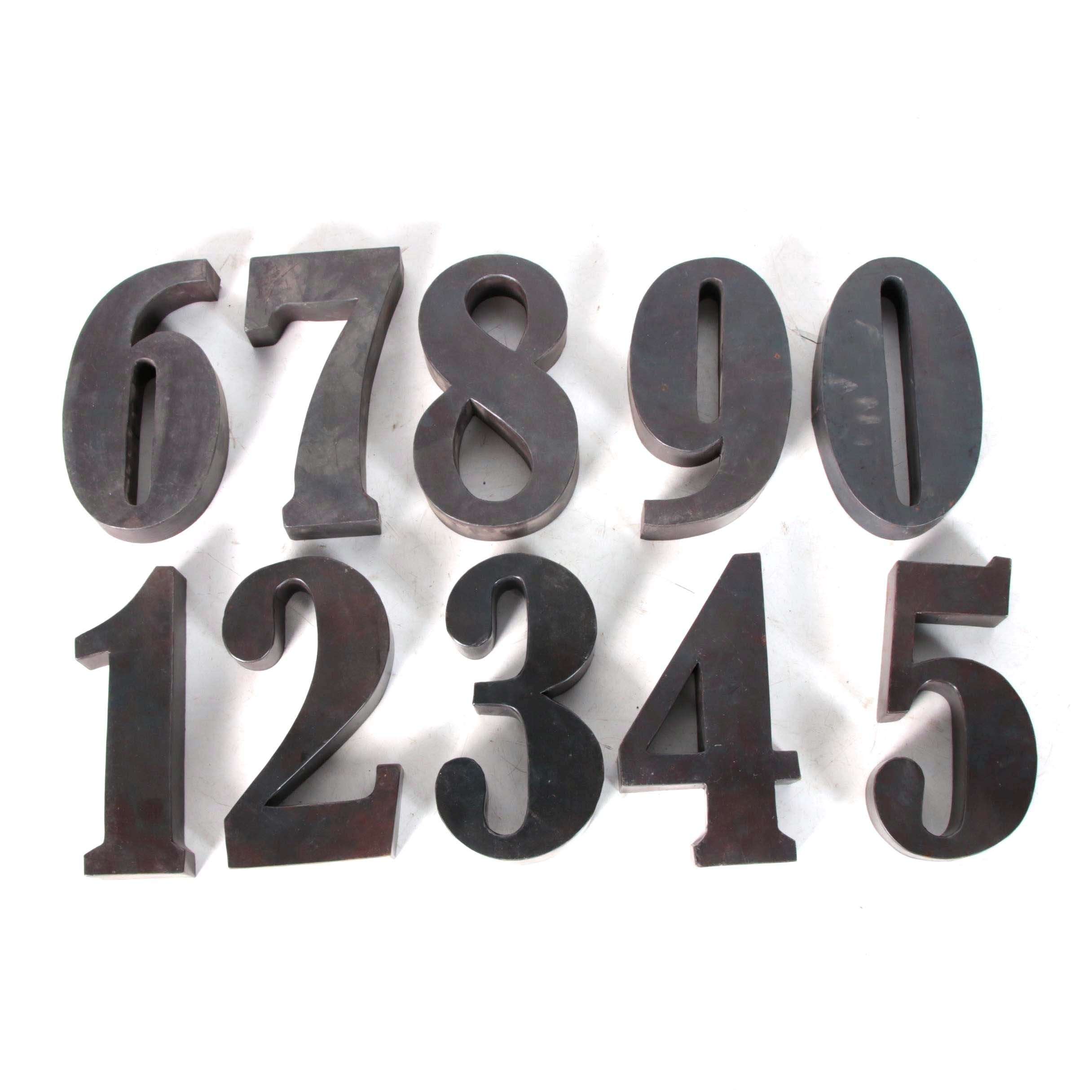 Decorative Metal Wall Hanging Numbers