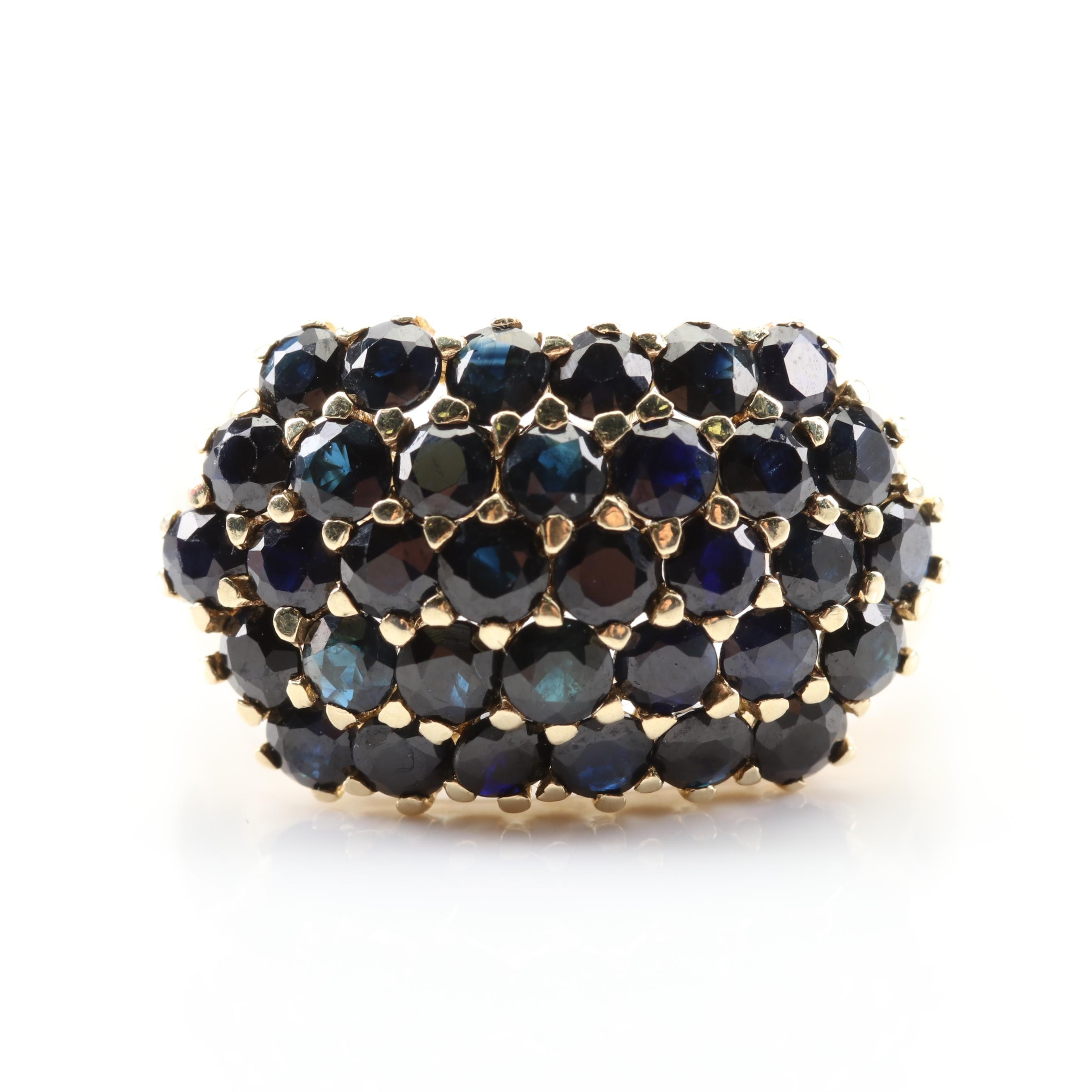 14K Yellow Gold 3.06 CTW Sapphire Ring
