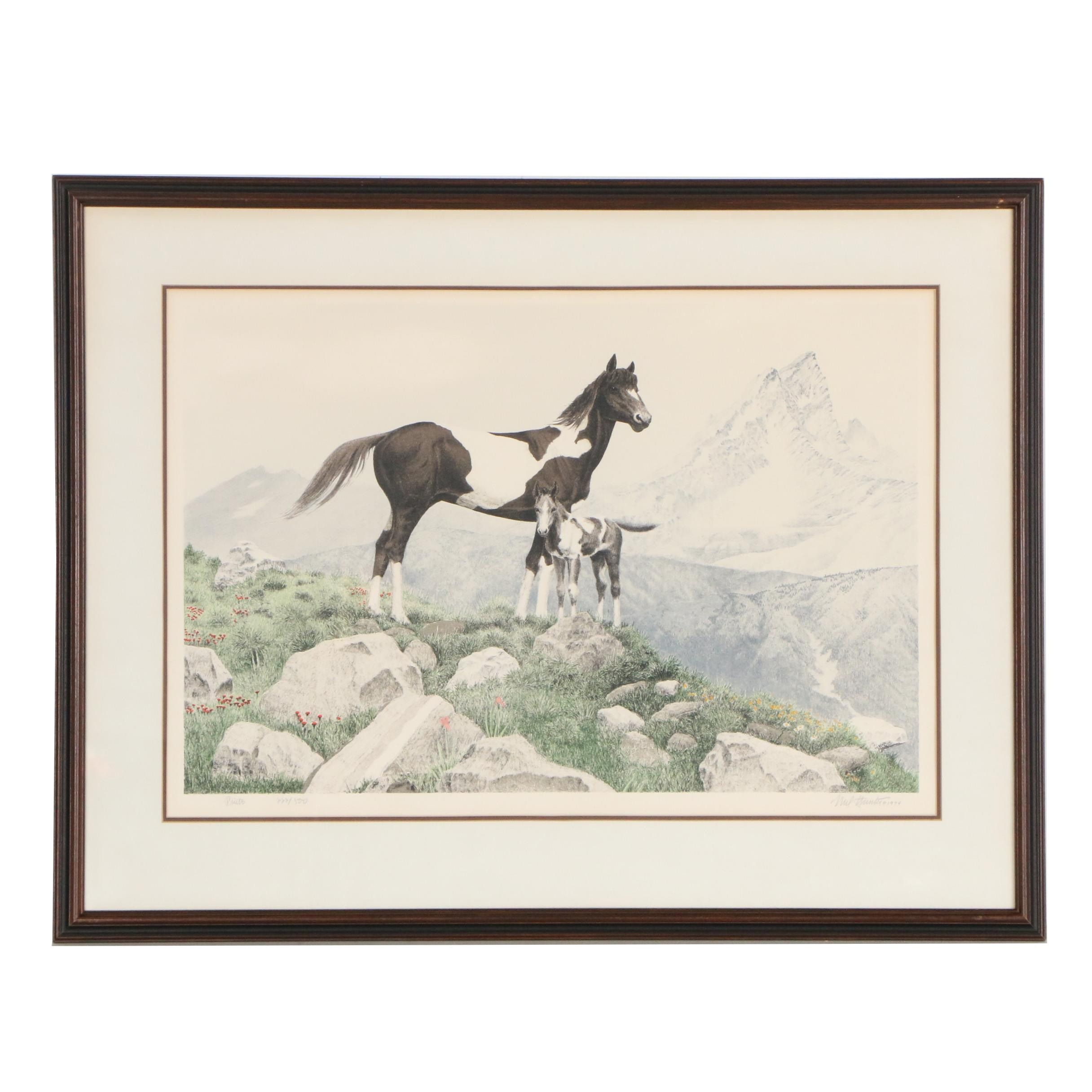"""Mel Hunter Limited Edition Color Lithograph """"Pinto"""""""