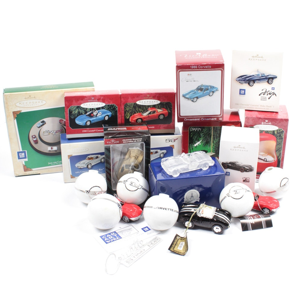 CorvetteThemed Christmas Ornaments Featuring Franklin Mint and Hallmark