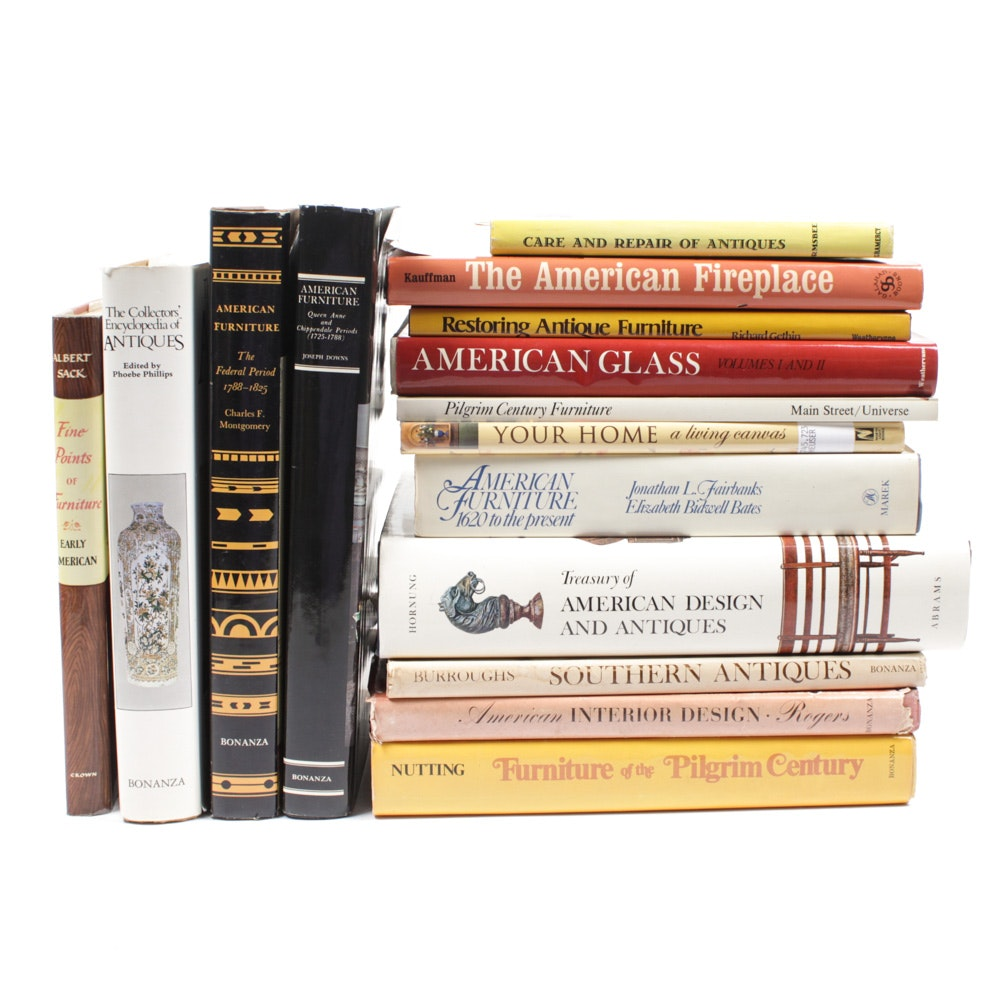 Antiques, Interior Decor and Furnishings Book Collection