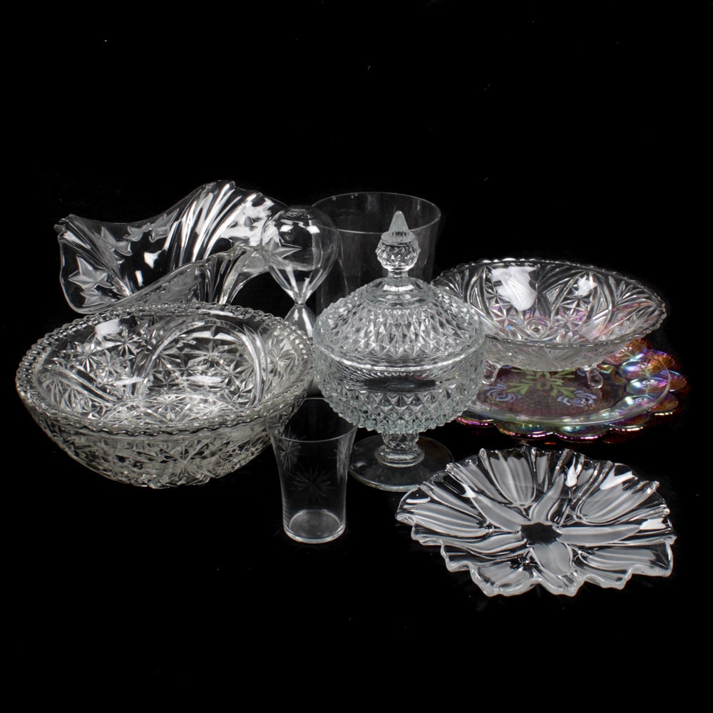Assorted Glass and Crystal Decor Featuring Mikasa
