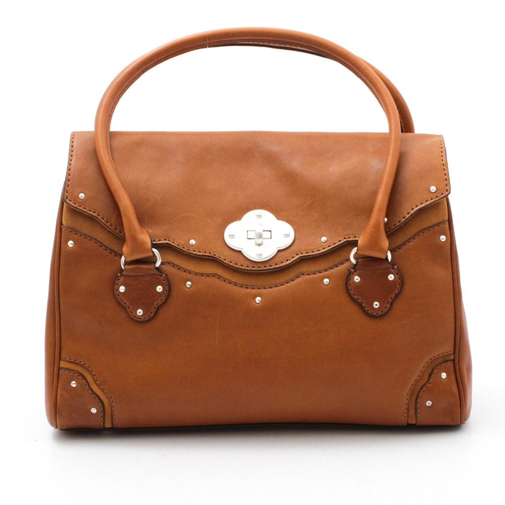 MICHAEL Michael Kors Cognac Leather Flap Front Handbag