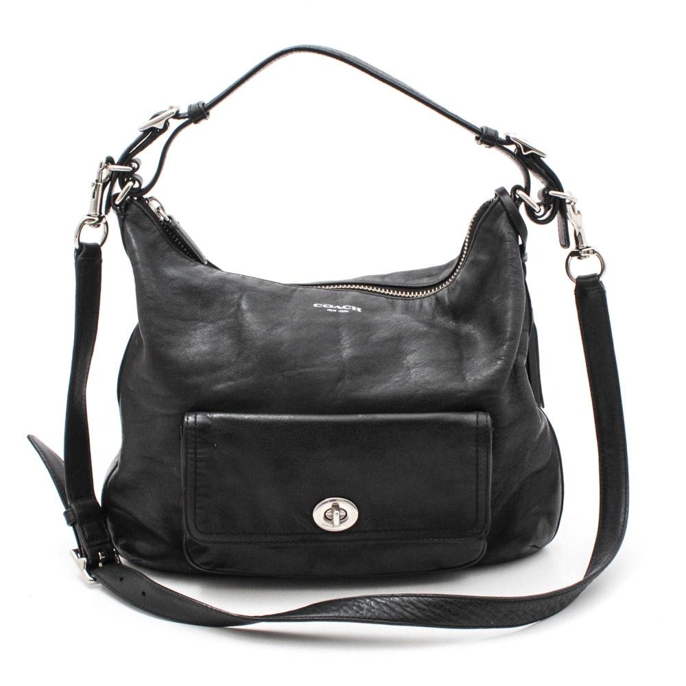 Coach Legacy Courtenay Black Leather Hobo Handbag