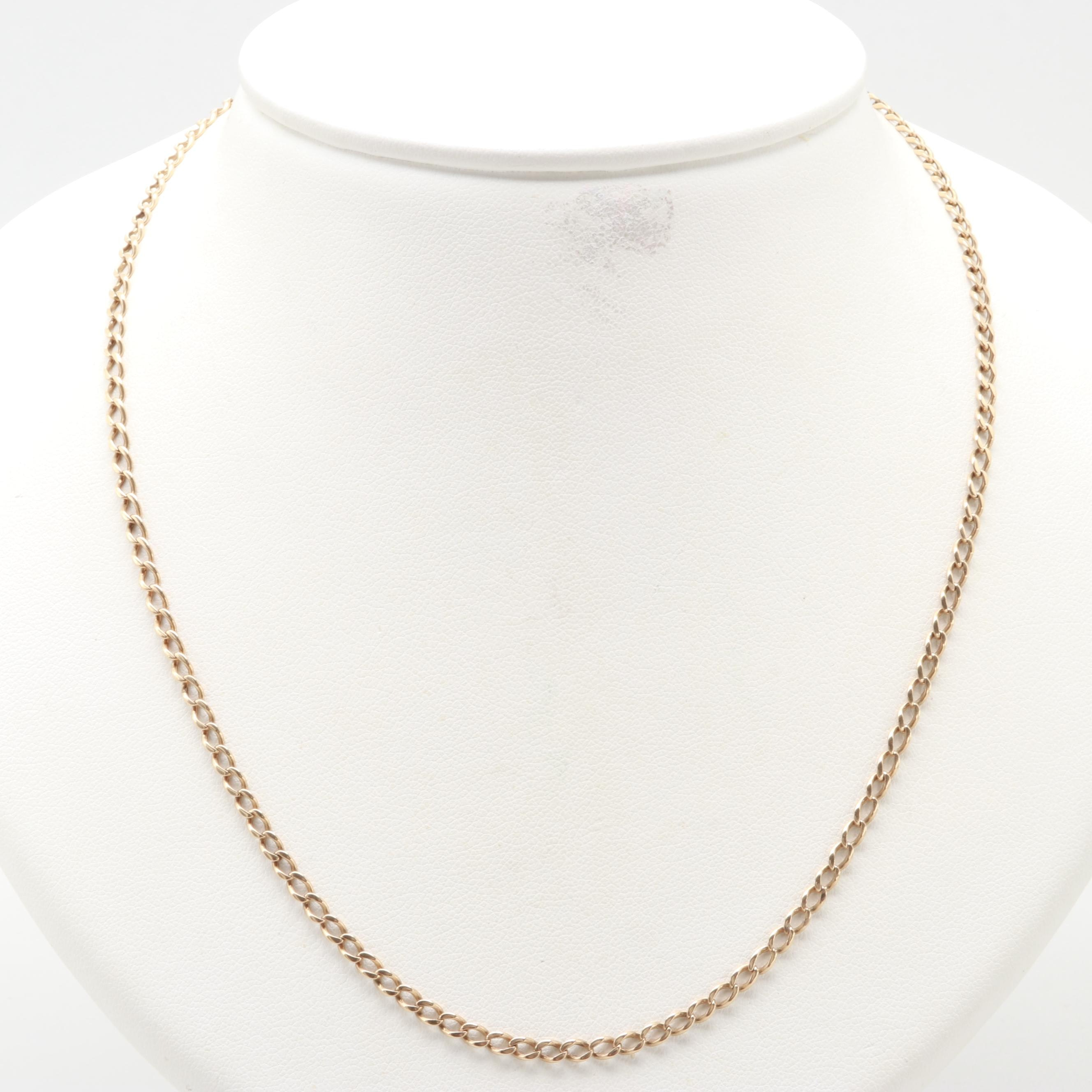 10K Yellow Gold Cable Chain Necklace
